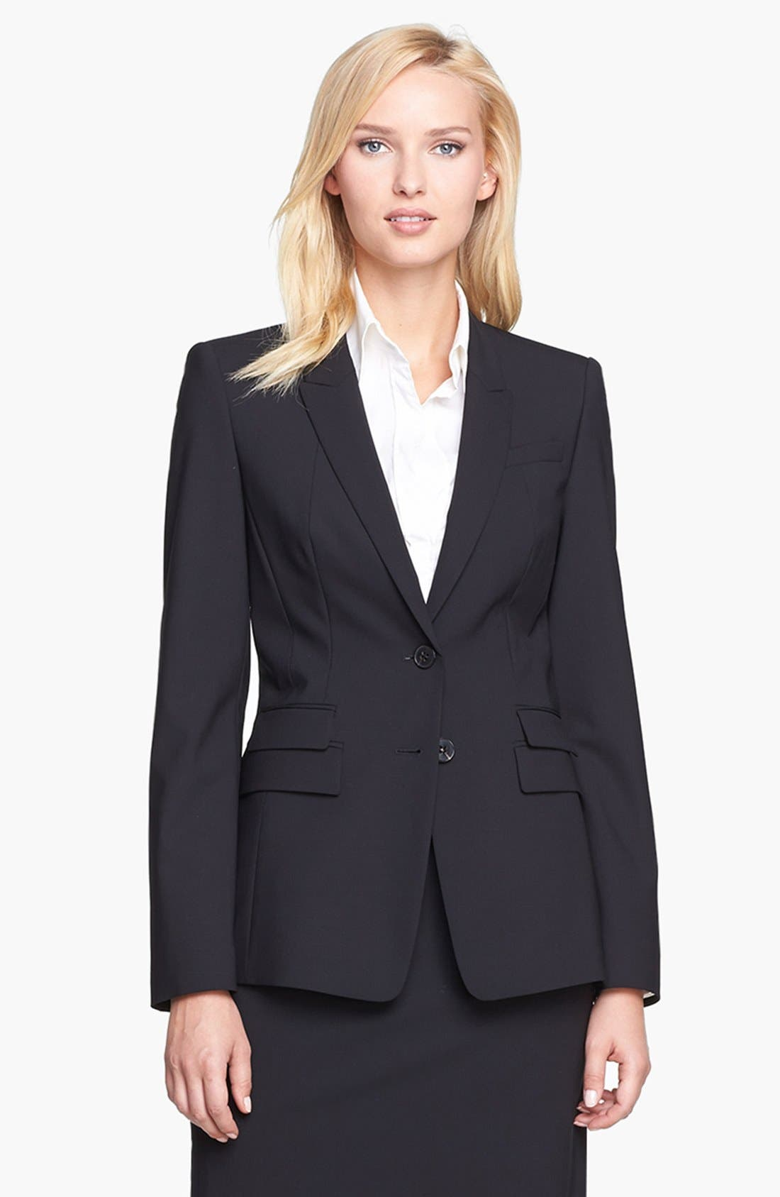 Alternate Image 1 Selected - BOSS 'Juicyra' Tropical Wool Jacket