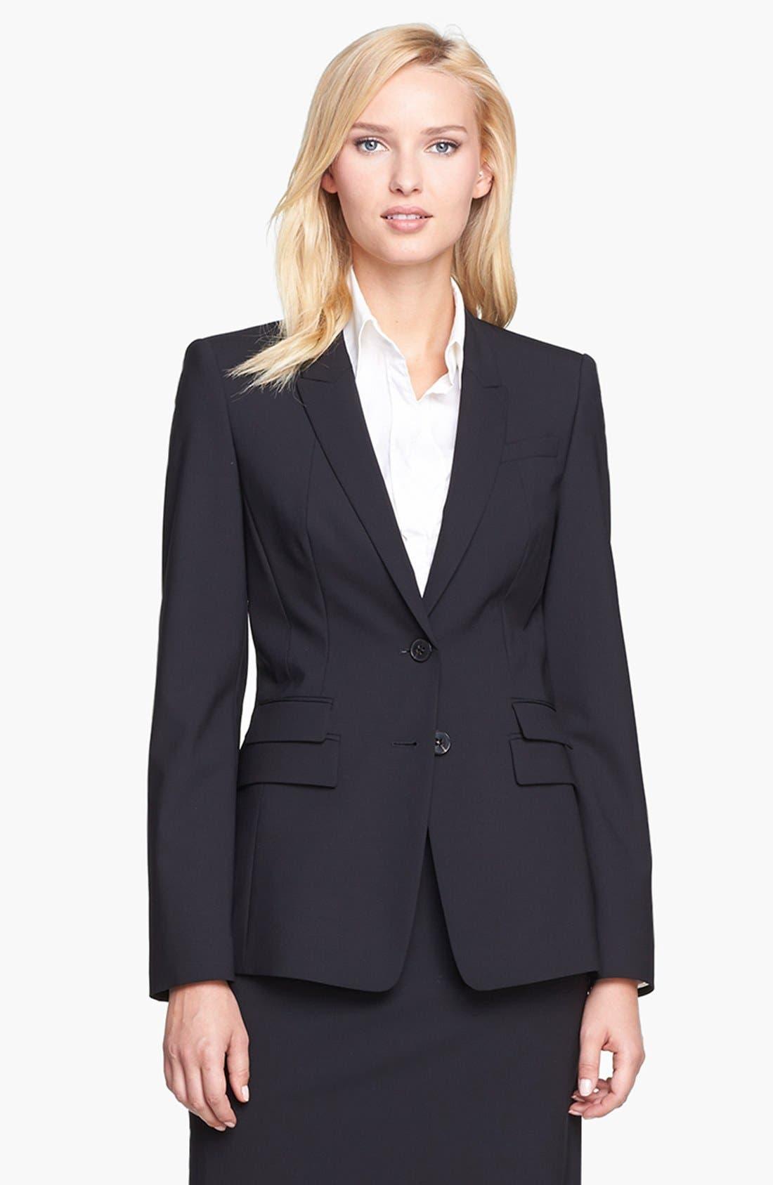 Main Image - BOSS 'Juicyra' Tropical Wool Jacket