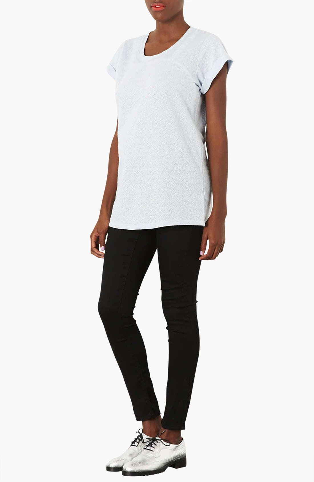 Alternate Image 4  - Topshop 'Leigh' Maternity Jeans