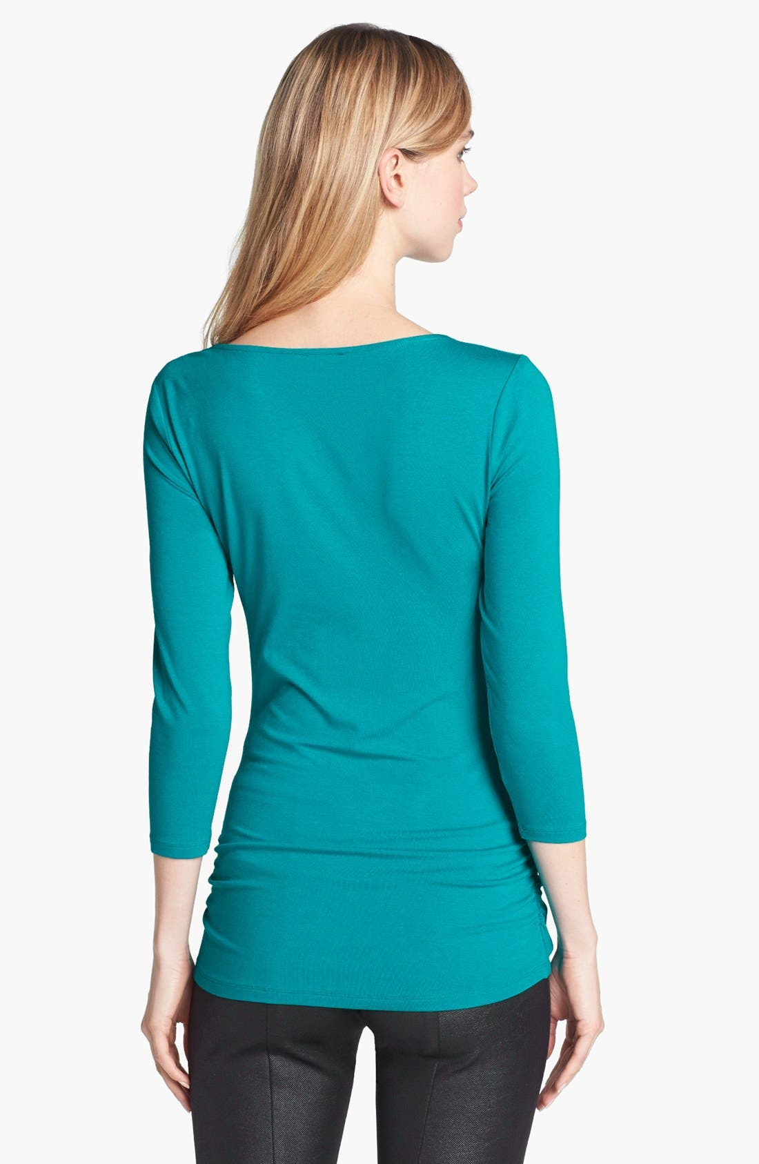 Alternate Image 2  - Vince Camuto High Wrap Side Ruched Top (Online Only)