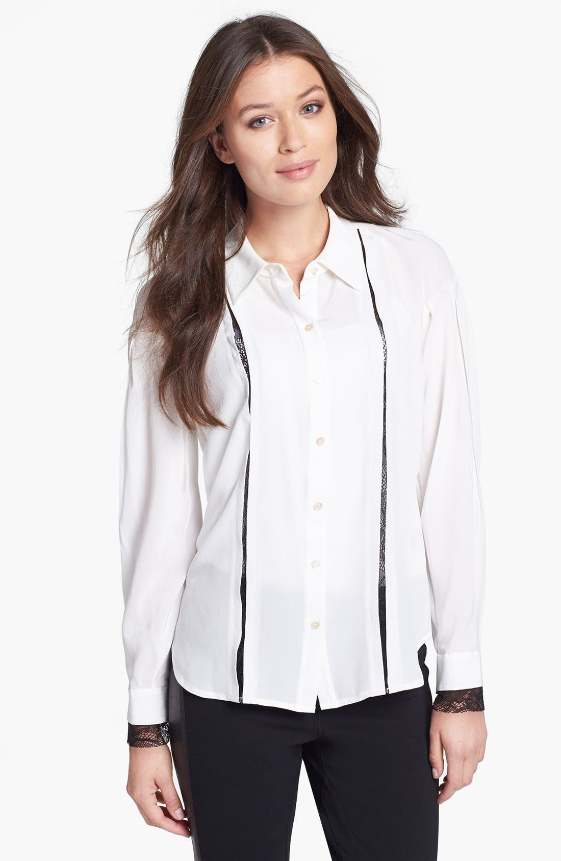 Main Image - Rachel Roy Lace Detail Blouse