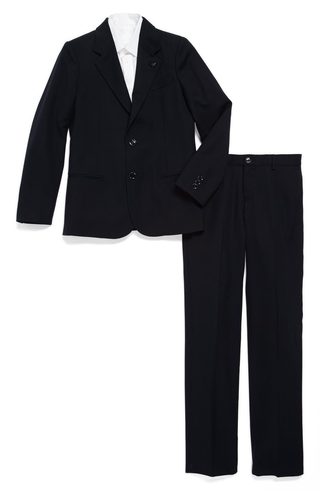 Alternate Image 1 Selected - Armani Junior Wool Suit (Big Boys)
