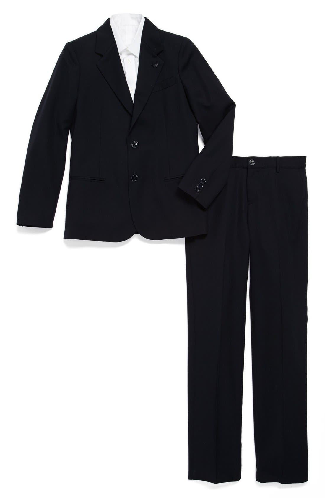 Main Image - Armani Junior Wool Suit (Big Boys)