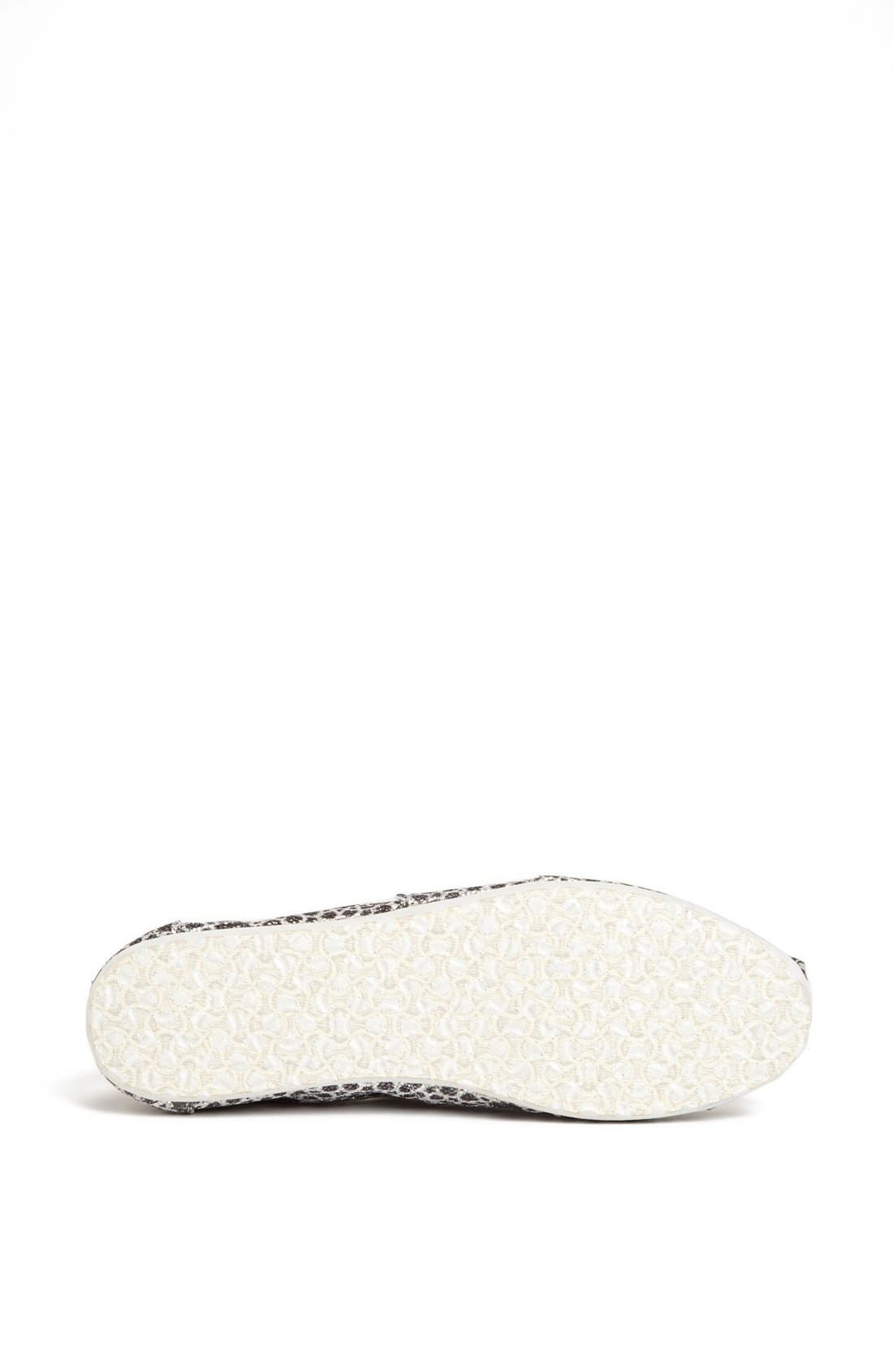 Alternate Image 4  - TOMS 'Seasonal Classic - Moroccan Glitter' Slip-On (Women)