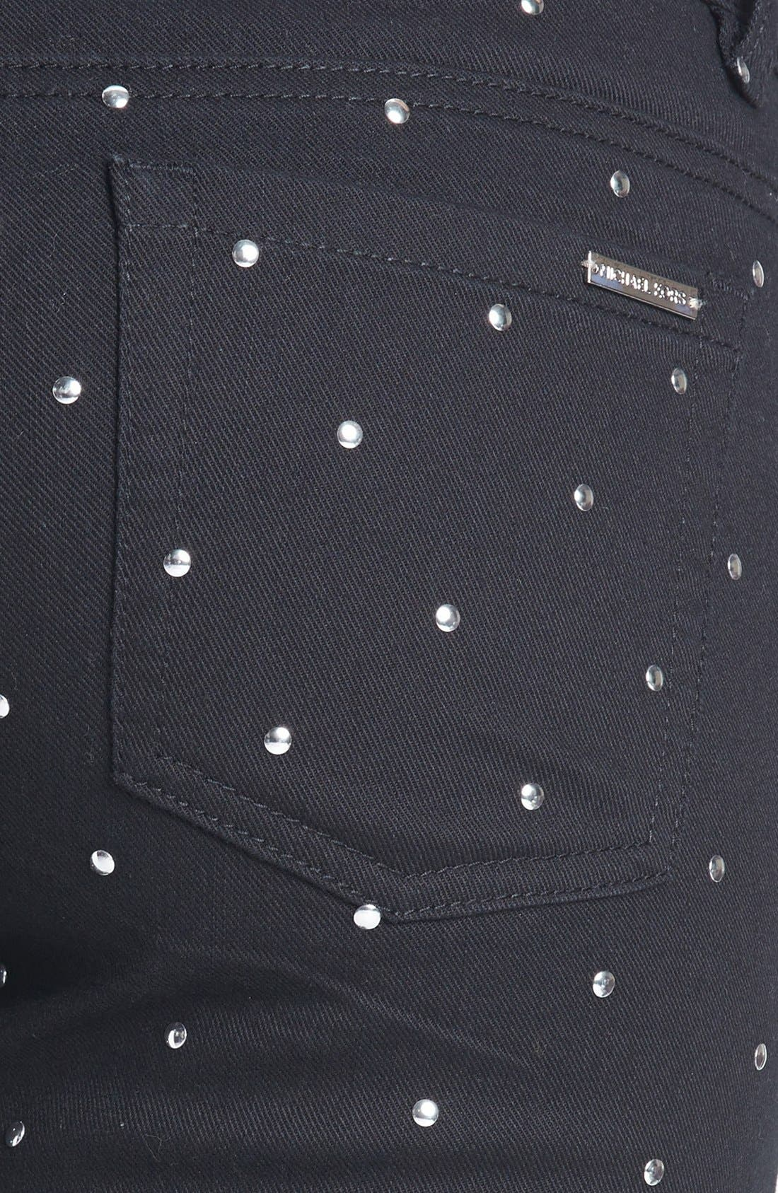 Alternate Image 3  - MICHAEL Michael Kors Studded Skinny Jeans