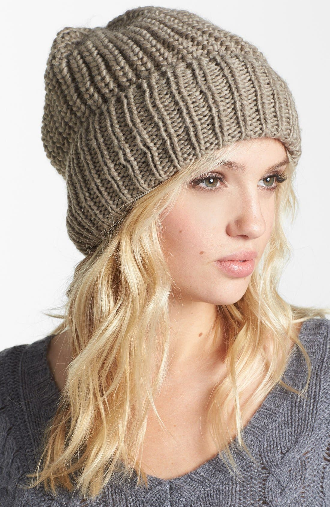 Alternate Image 1 Selected - Tarnish Chunky Knit Beanie