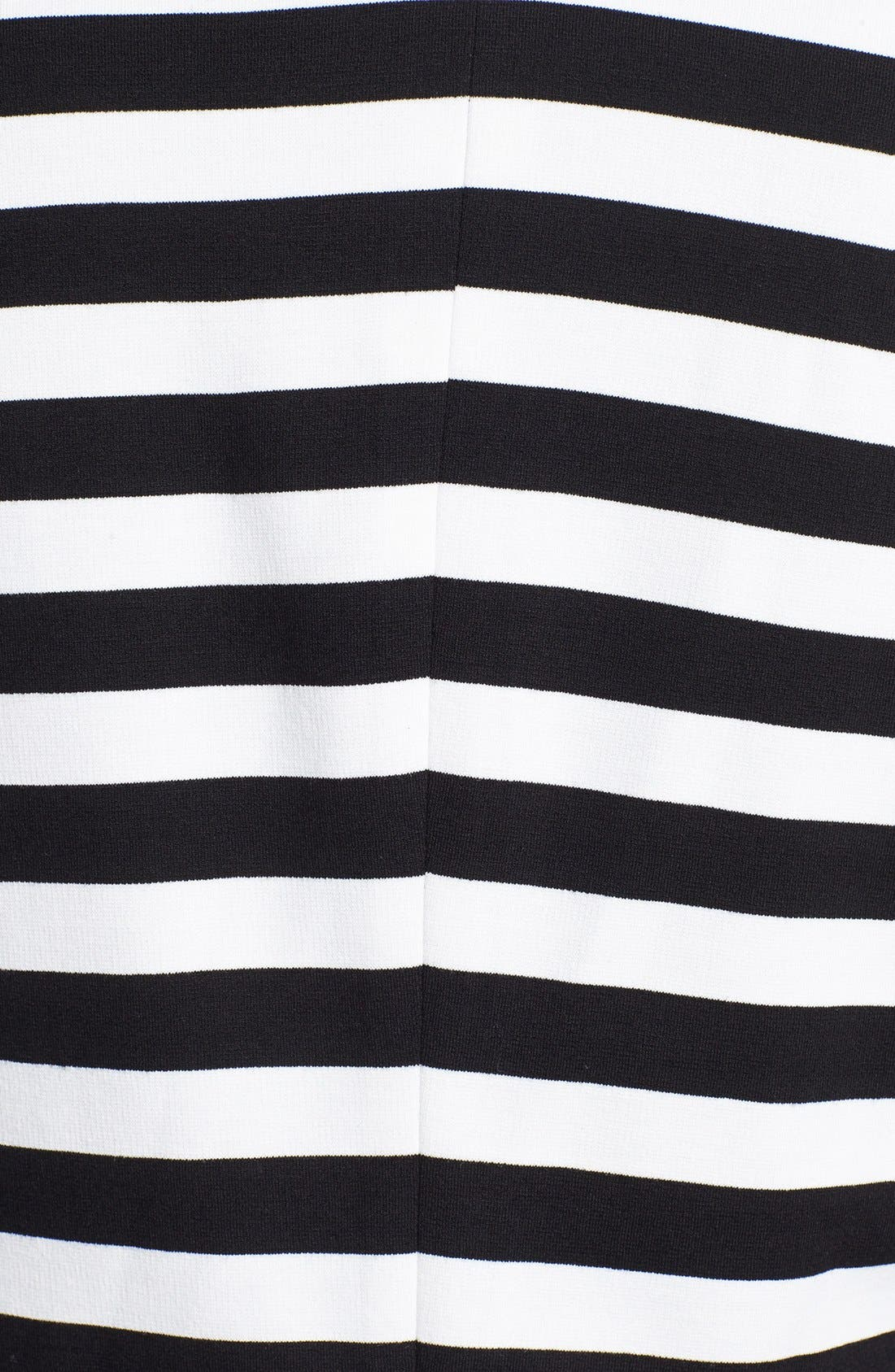 Stripe Ponte Blazer,                             Alternate thumbnail 3, color,                             Black/ White Stripe