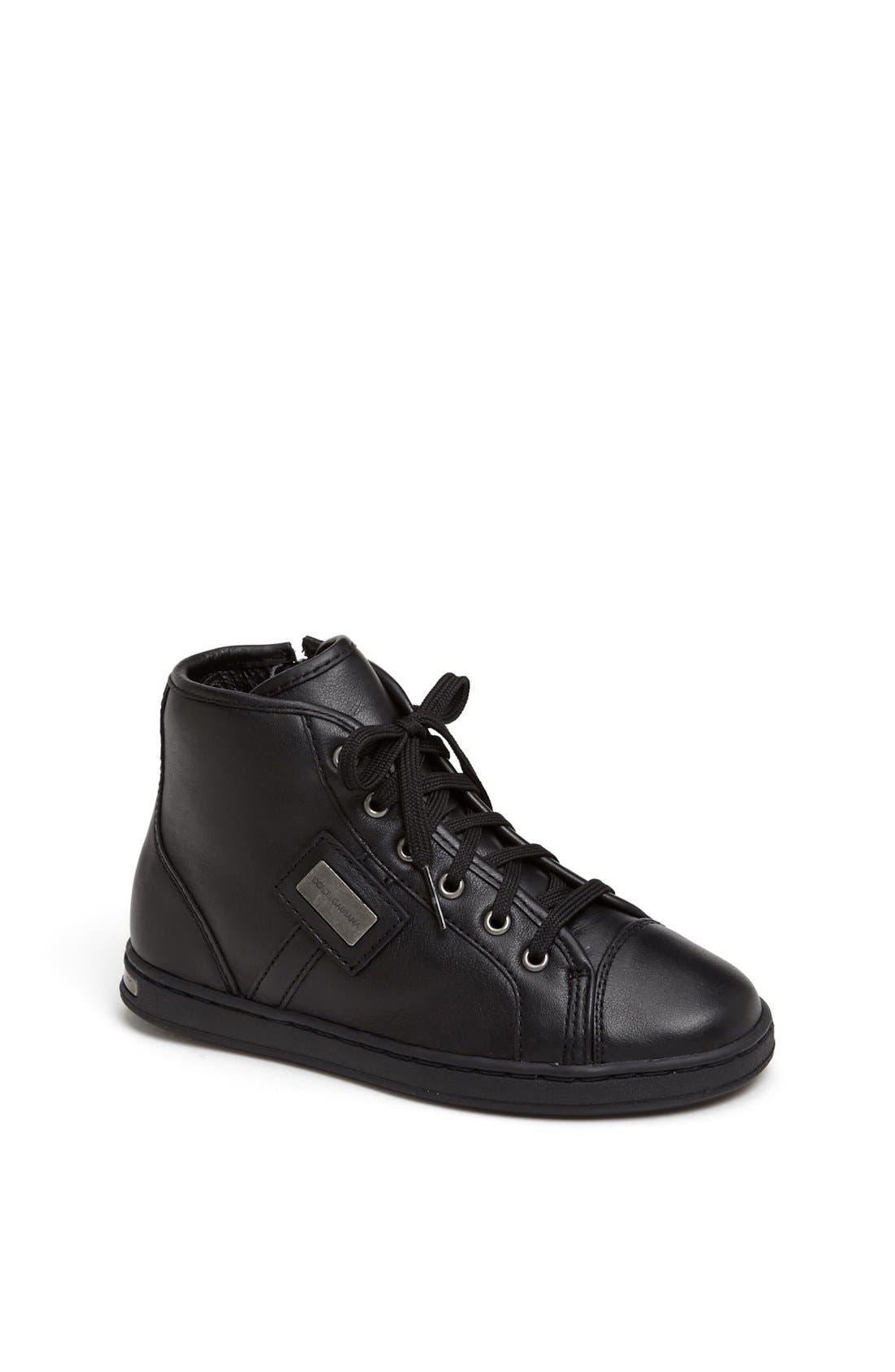 Alternate Image 1 Selected - Dolce&Gabbana High Top Sneaker (Toddler & Little Kid)