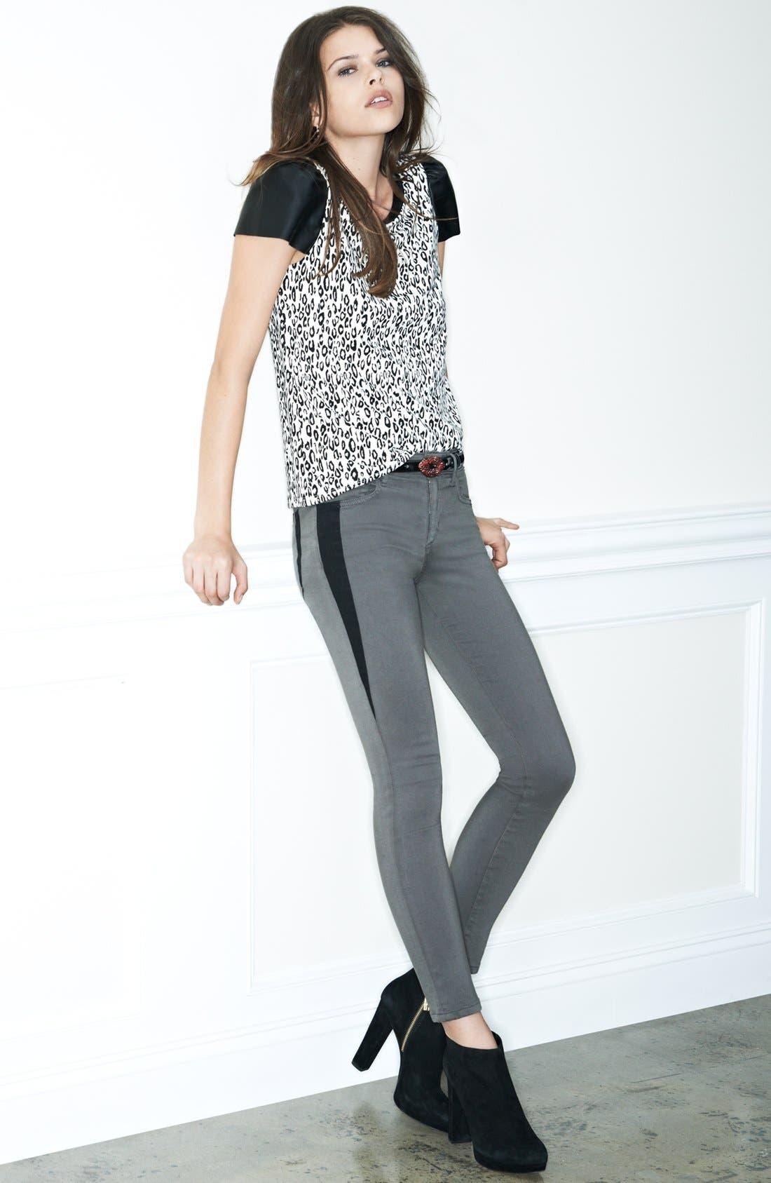 Alternate Image 4  - Joe's 'Oblique' Skinny Ankle Jeans (Charcoal)