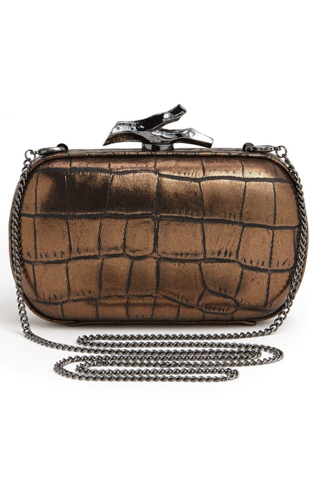 Alternate Image 4  - Diane von Furstenberg 'Lytton' Embossed Metallic Leather Clutch