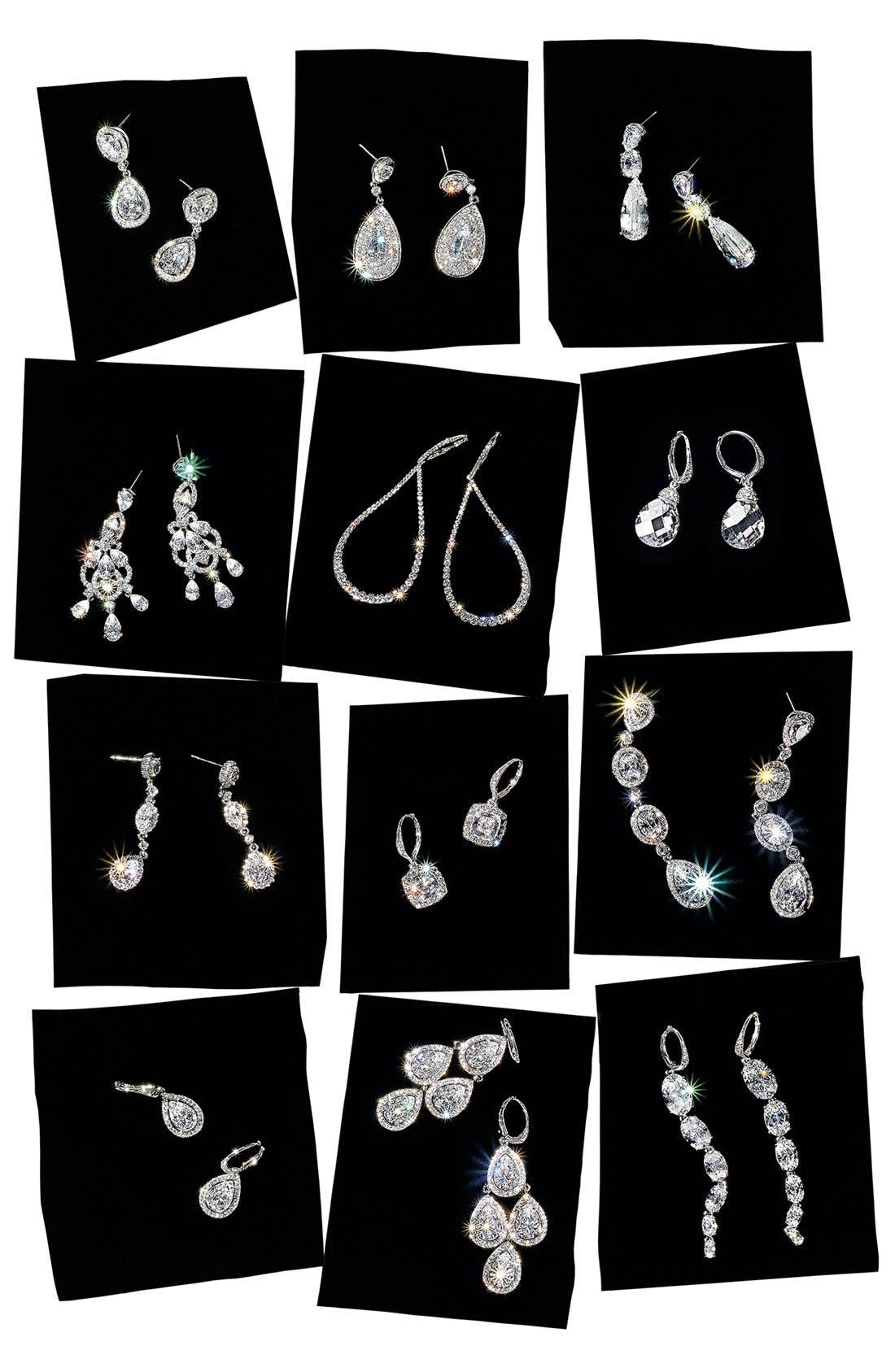 Alternate Image 3  - Nadri Framed Cubic Zirconia & Crystal Drop Earrings