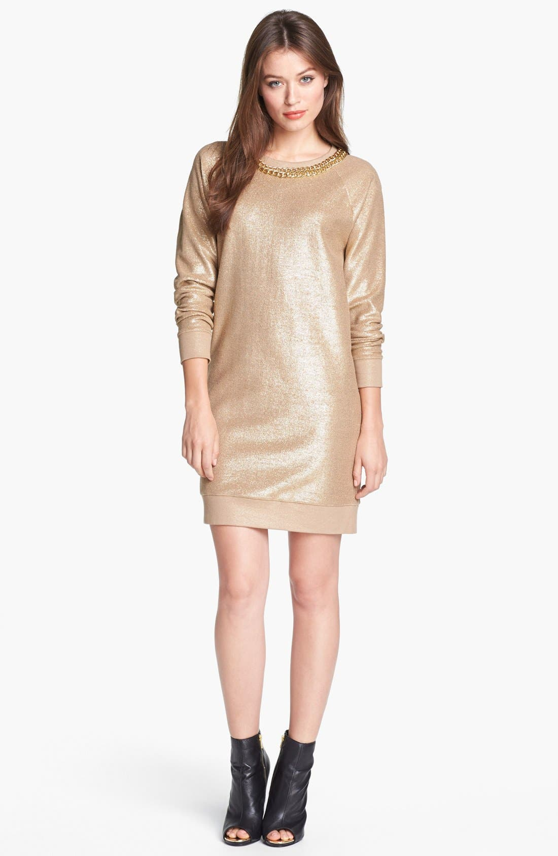 Alternate Image 1 Selected - MICHAEL Michael Kors Foiled Cotton Terry Dress