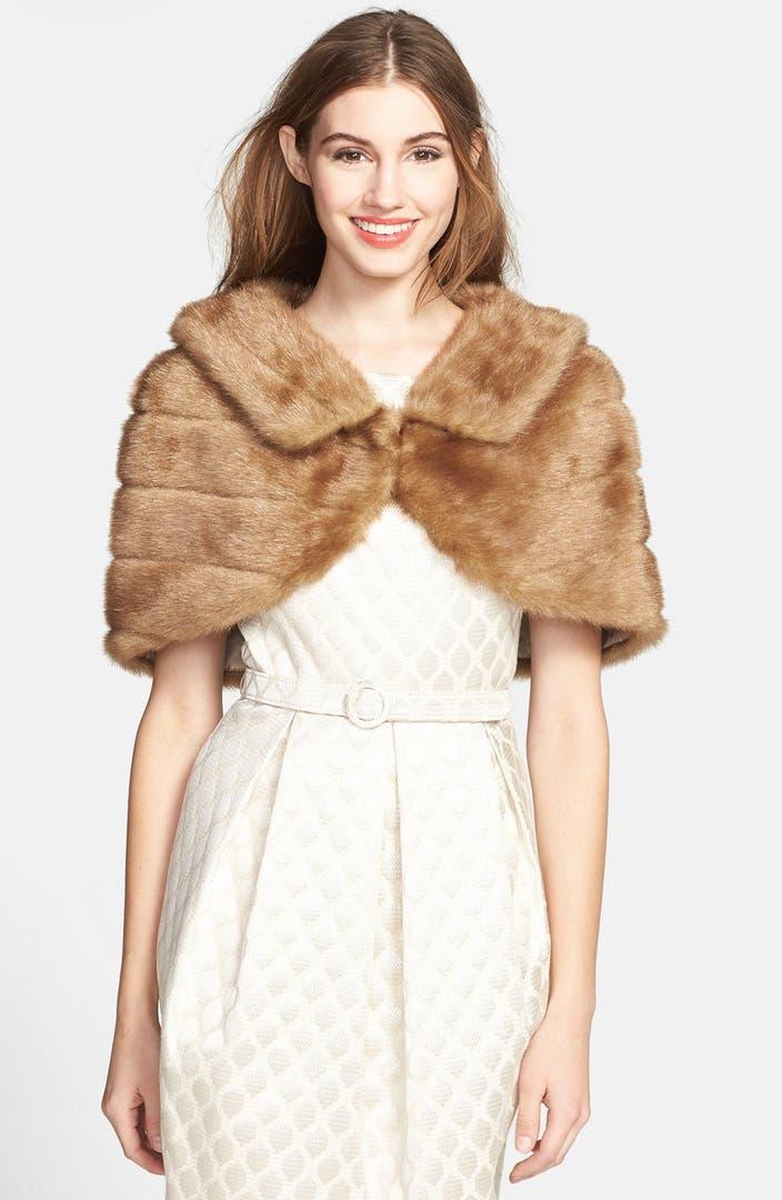 Eliza j faux fur bolero nordstrom for Designer bolero
