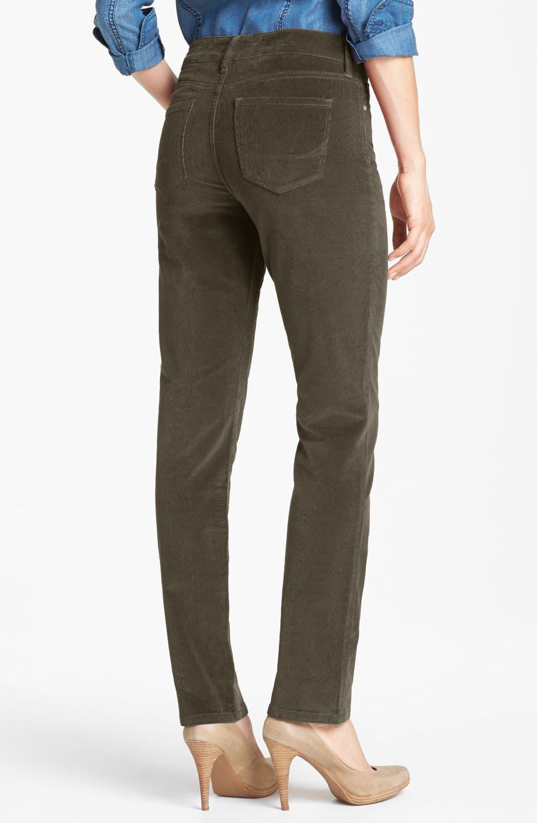 Alternate Image 2  - NYDJ 'Sheri' Colored Stretch Corduroy Skinny Pants (Regular & Petite)