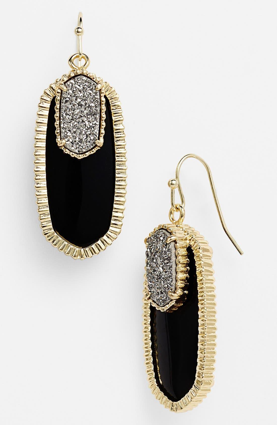 Alternate Image 1 Selected - Kendra Scott 'Dayton' Oval Stone & Drusy Drop Earrings