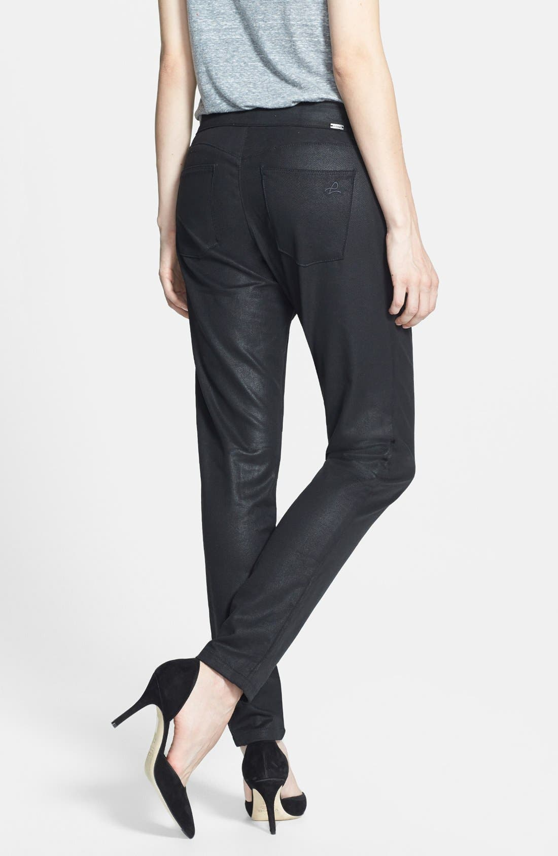 Alternate Image 2  - DL1961 'Ava' Coated Slouchy Jeans (Wick)