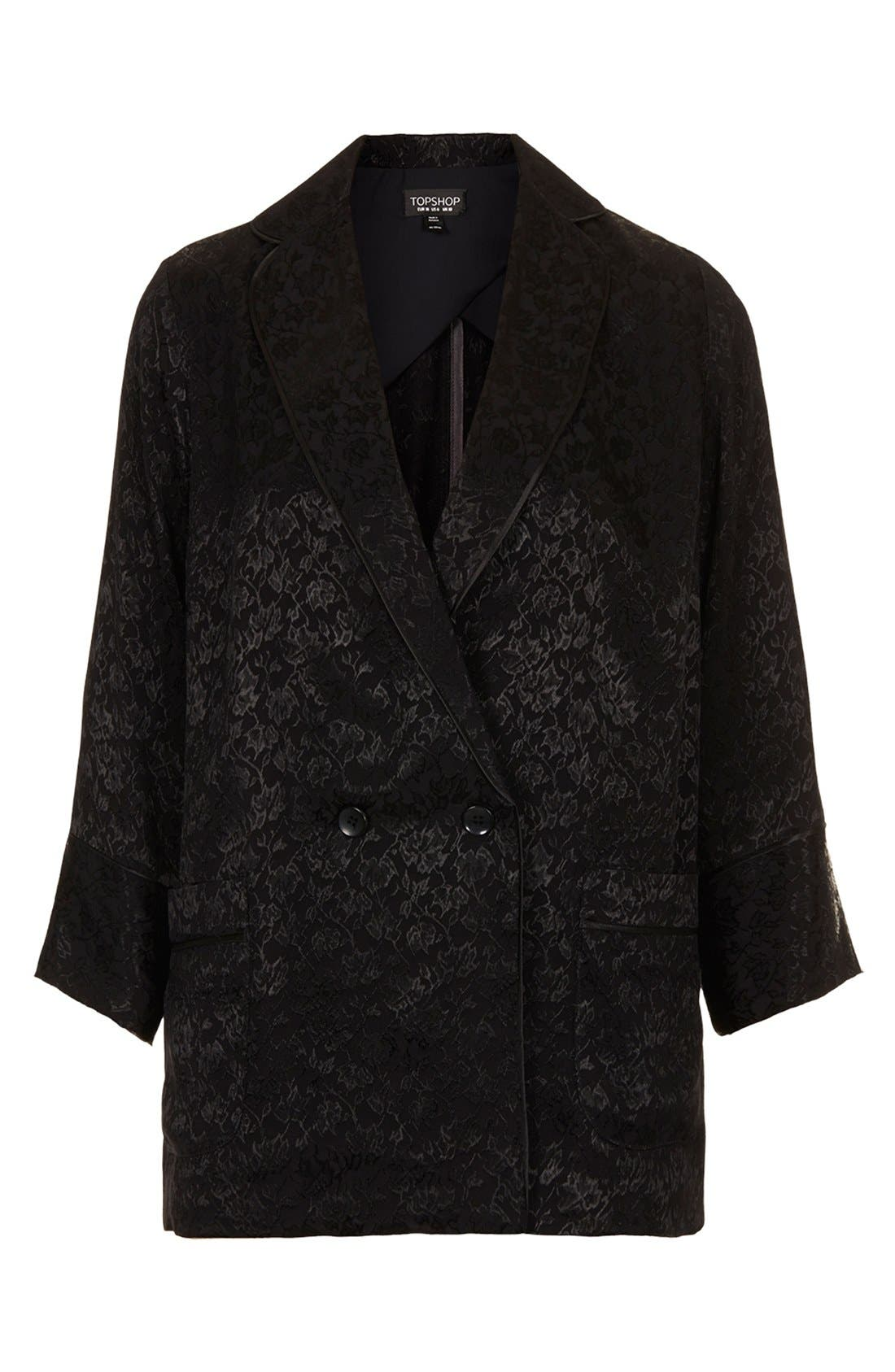 Alternate Image 3  - Topshop Floral Jacquard Jacket