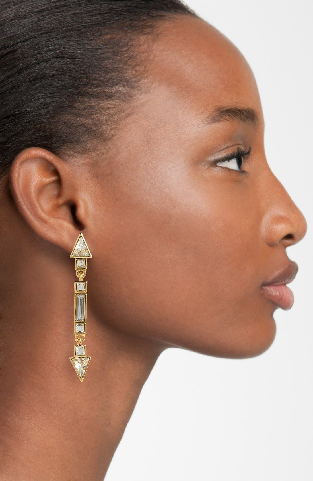 Alternate Image 2  - Vince Camuto 'Crystal Clear' Linear Drop Earrings