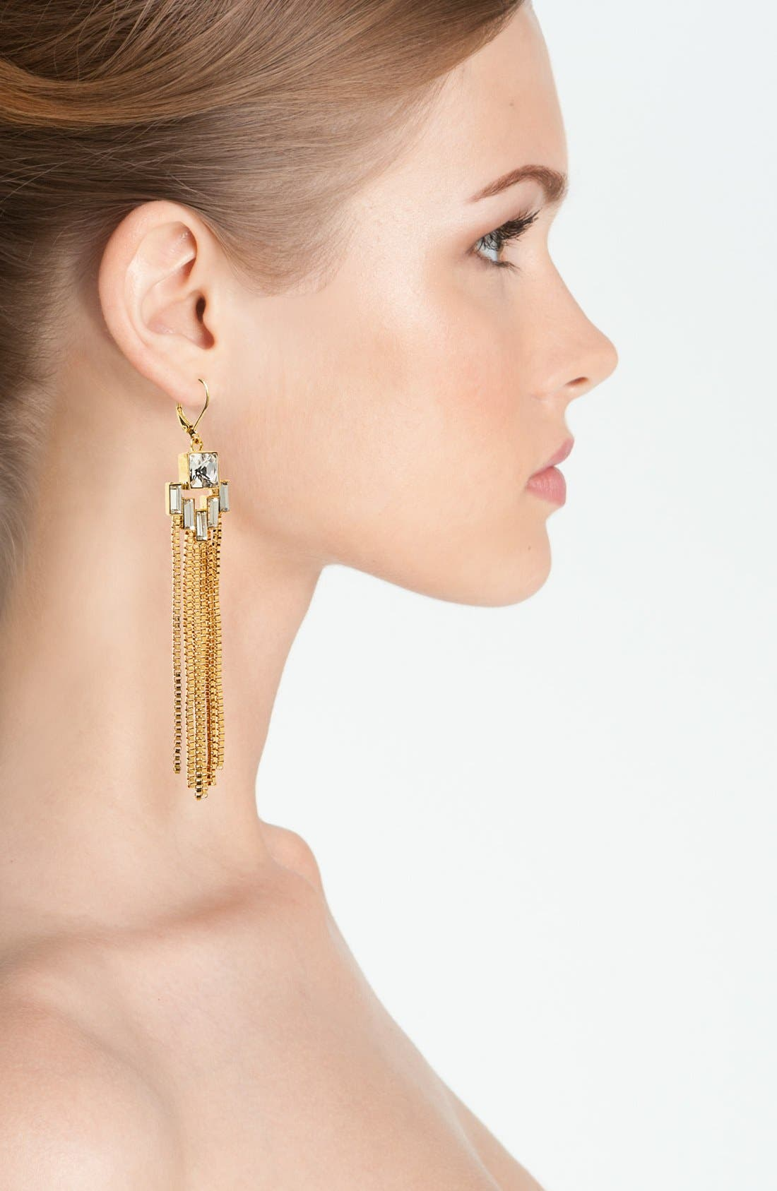 Alternate Image 2  - Vince Camuto 'Crystal Clear' Fringe Earrings