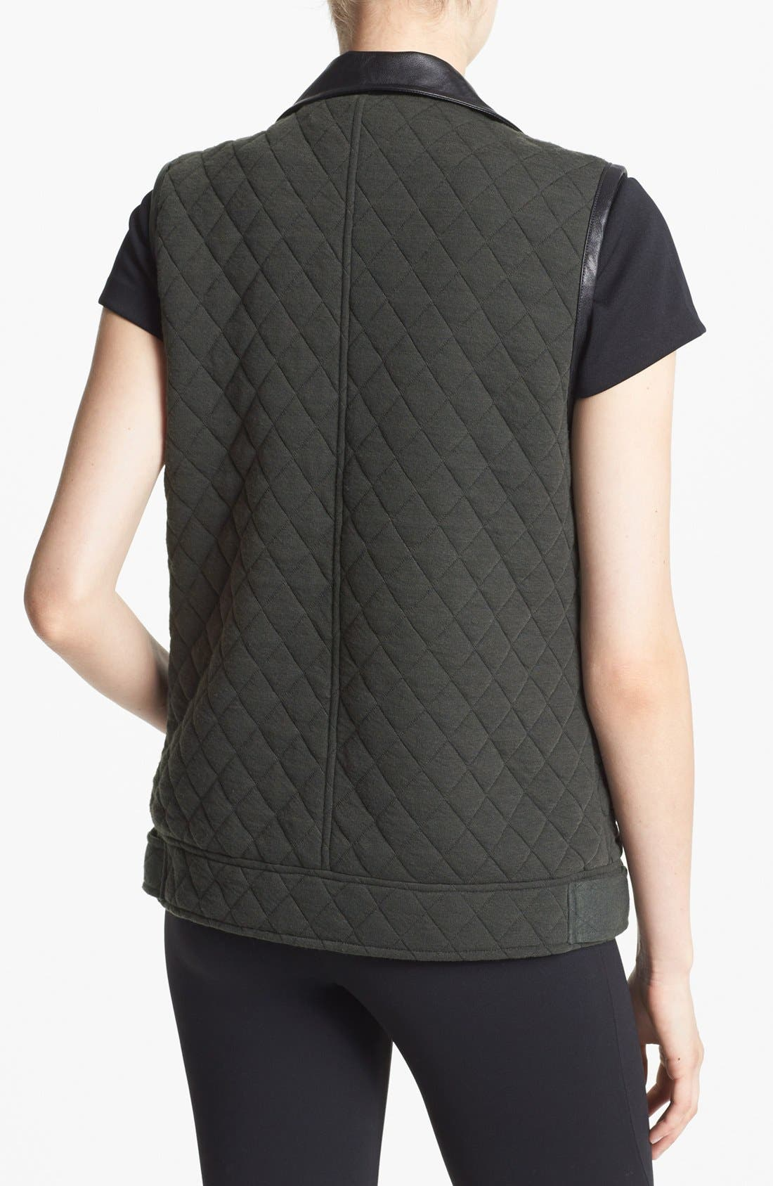 Alternate Image 2  - ASTR Quilted Fleece Moto Vest