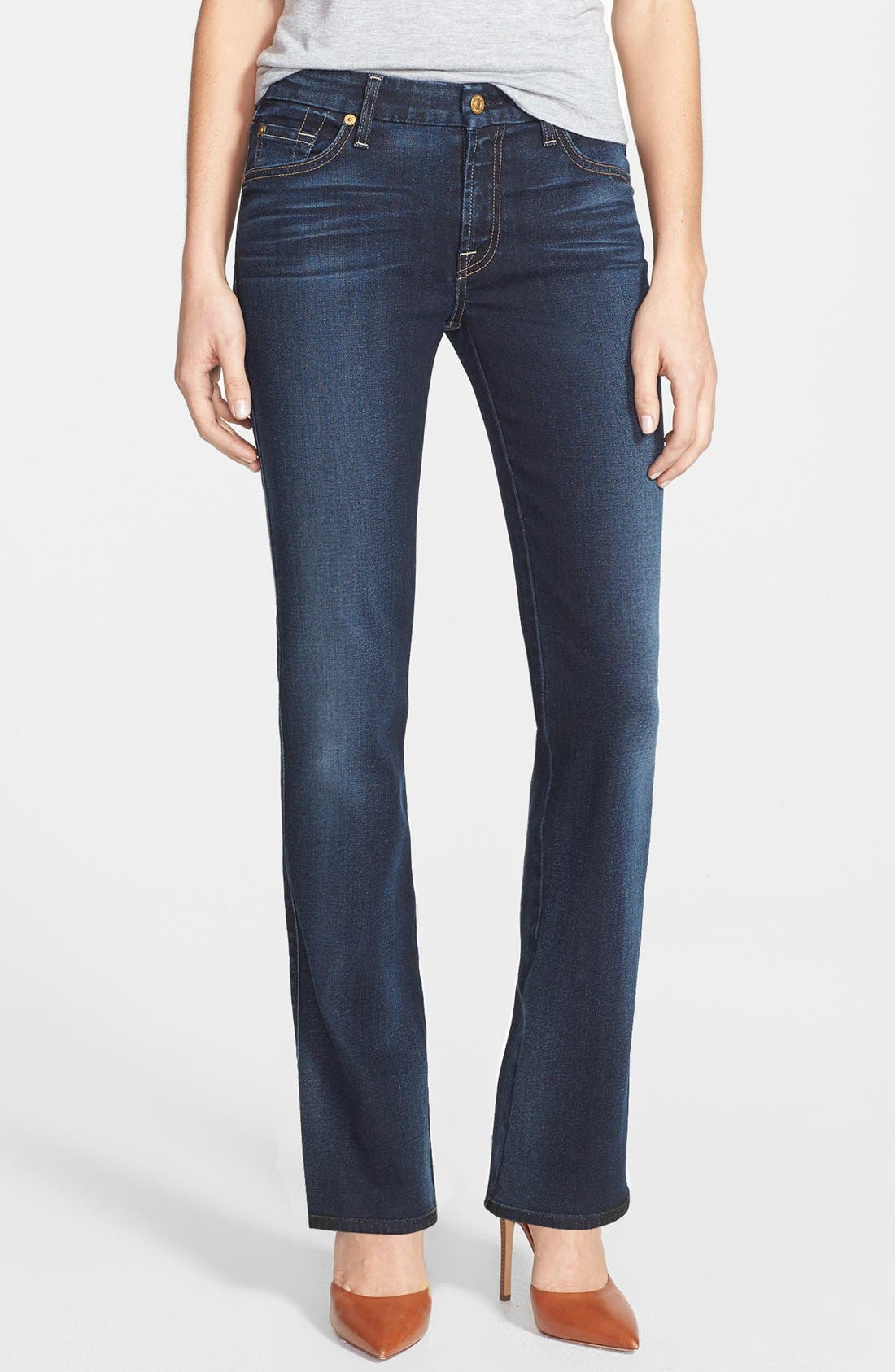 Alternate Image 1 Selected - 7 For All Mankind® 'Kimmie' Bootcut Jeans (Merci Blue)