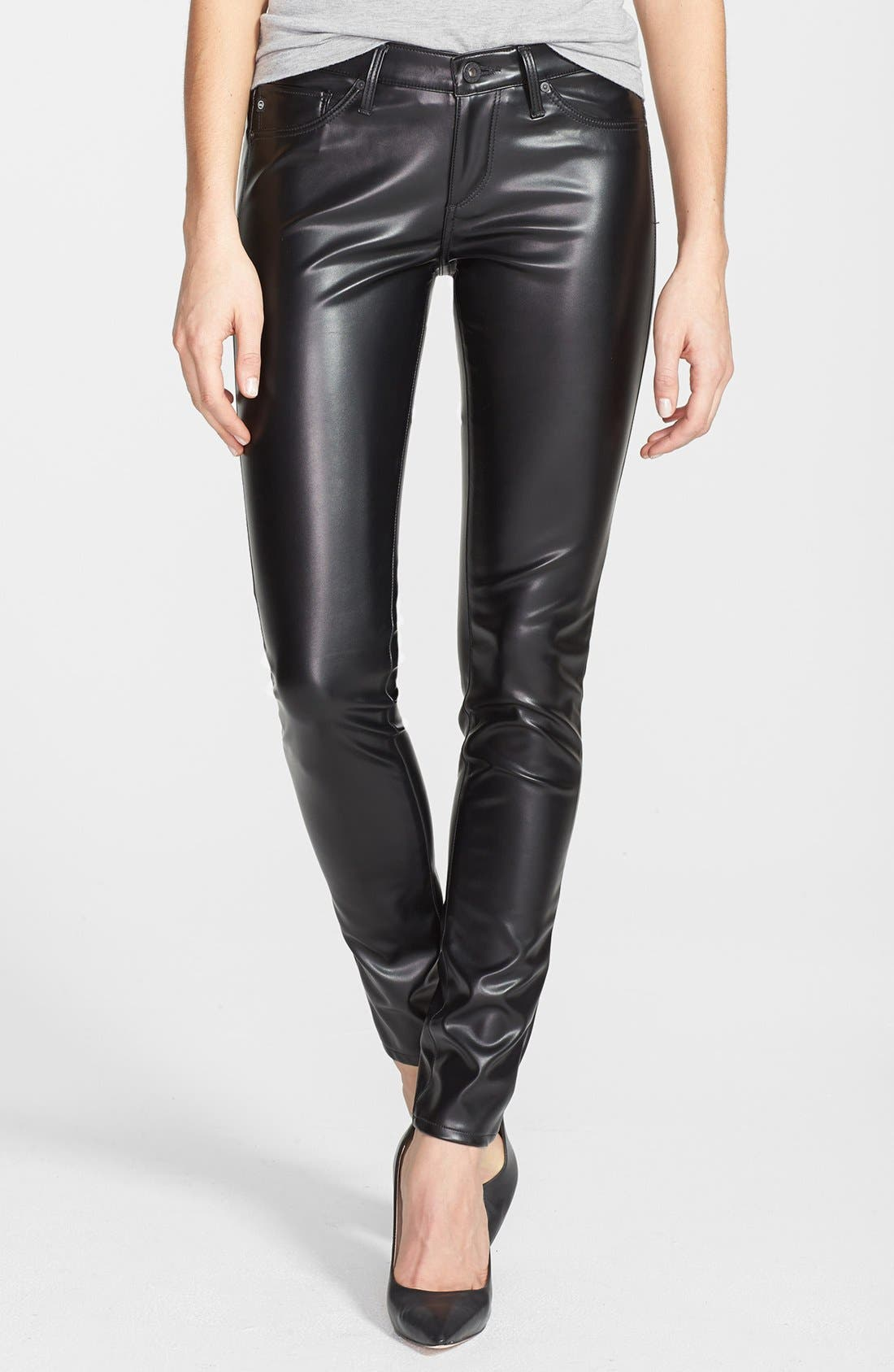 Alternate Image 1 Selected - AG 'The Legging' Skinny Faux Leather Pants