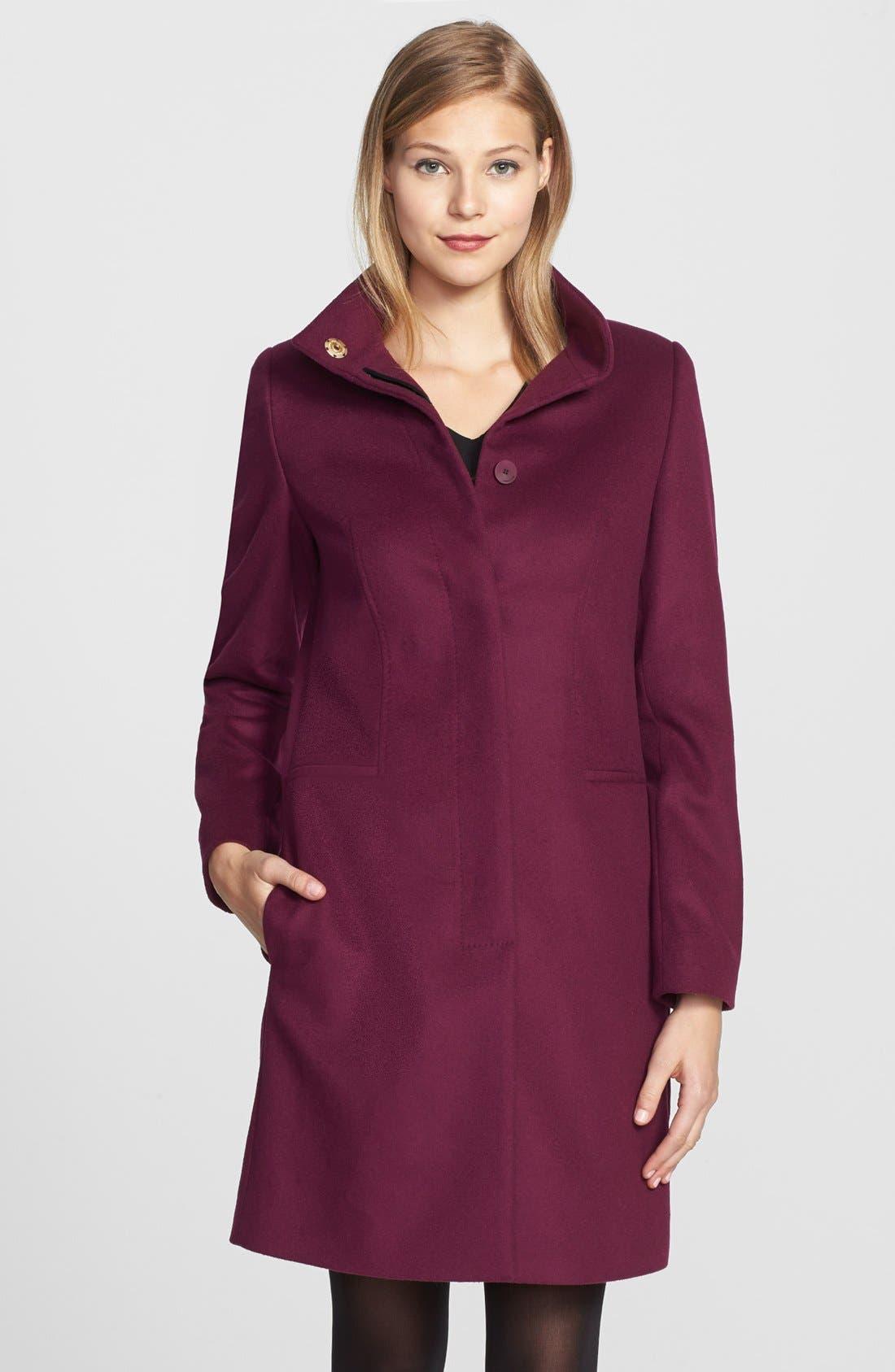 Alternate Image 1 Selected - BOSS HUGO BOSS 'Celirela' Stand Collar Coat