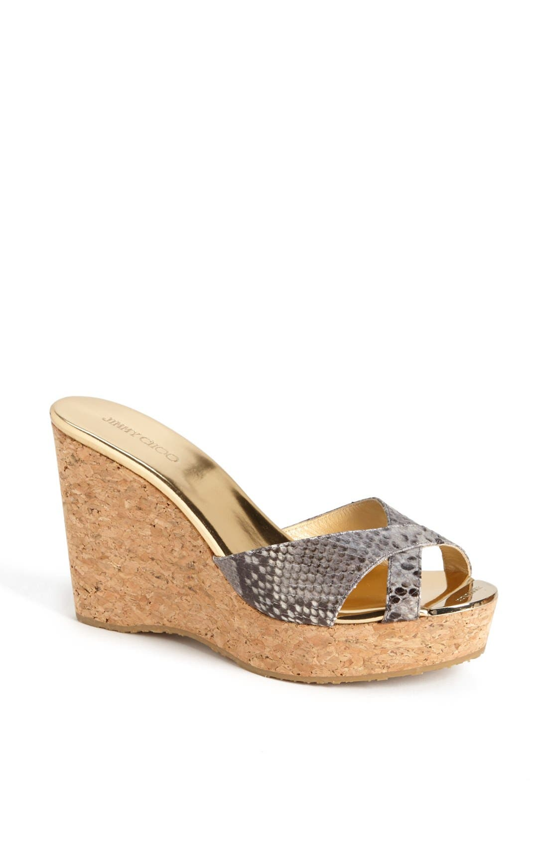 Alternate Image 1 Selected - Jimmy Choo 'Pandora' Wedge Sandal