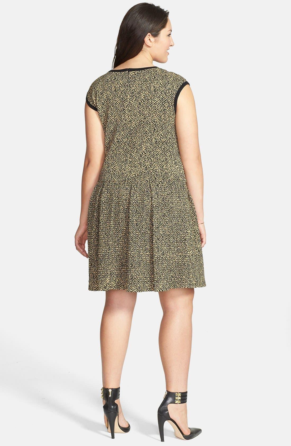 Alternate Image 2  - Eight Sixty Jacquard Skater Dress (Plus Size)