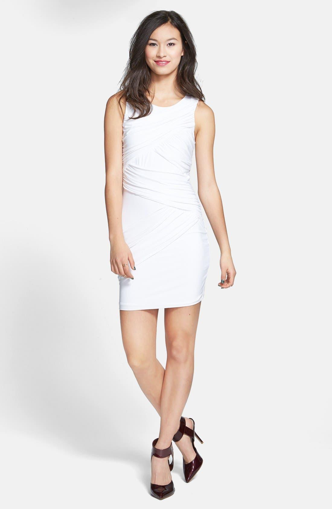 Main Image - Soprano Ruched Body-Con Dress (Juniors)