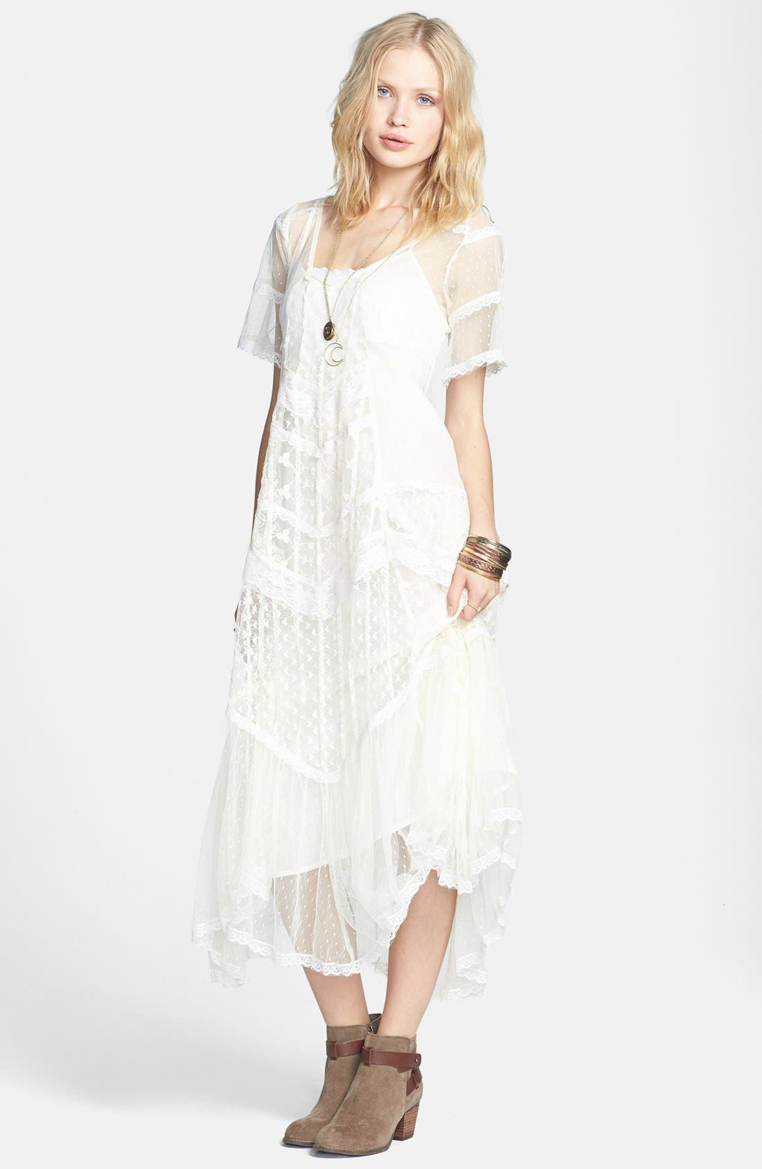Main Image - Free People 'Elson' Mixed Lace Maxi Dress