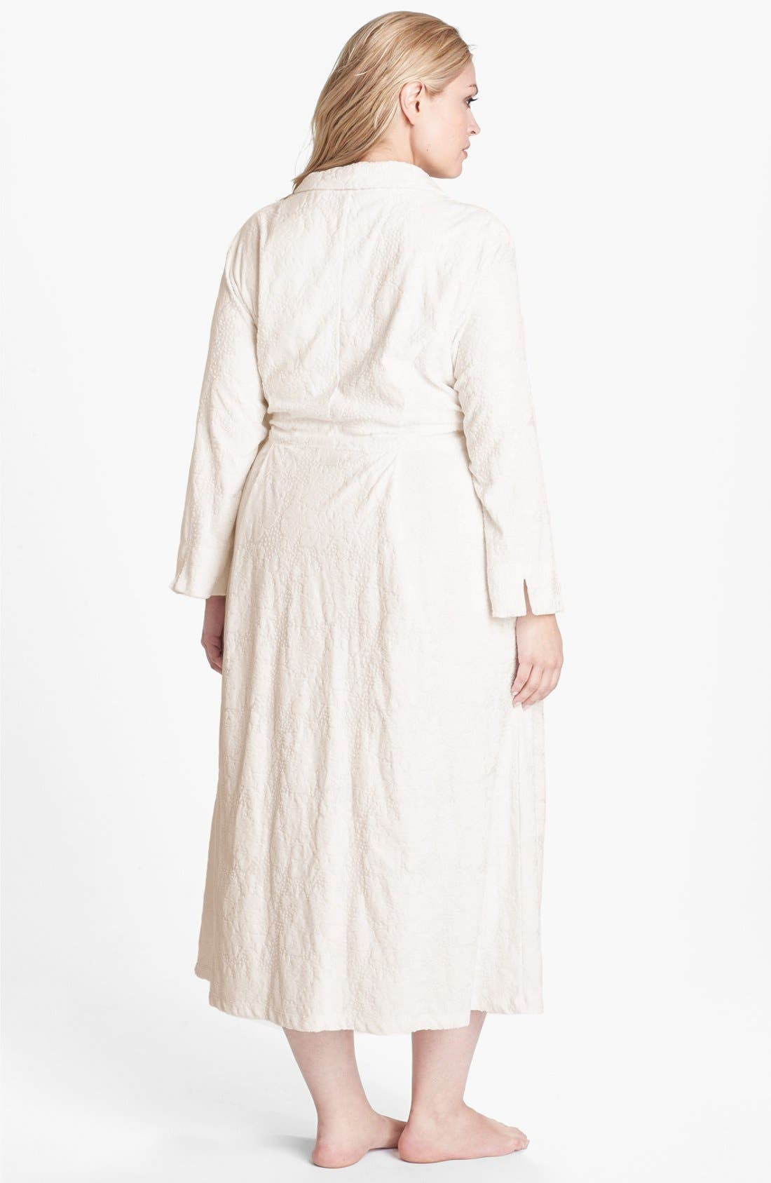 Alternate Image 2  - Eileen West 'Palazzo Splendor' Zip Front Robe (Plus Size)