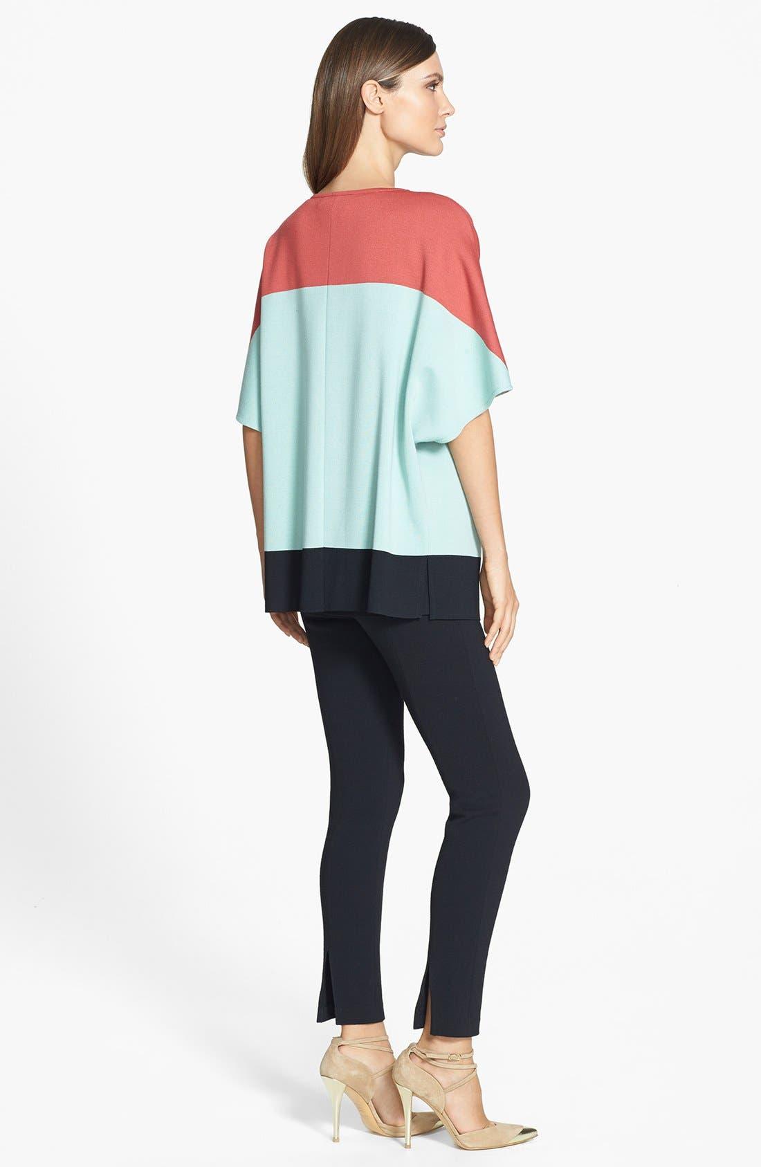 Alternate Image 3  - St. John Collection Colorblock Milano Knit Sleeveless Tunic