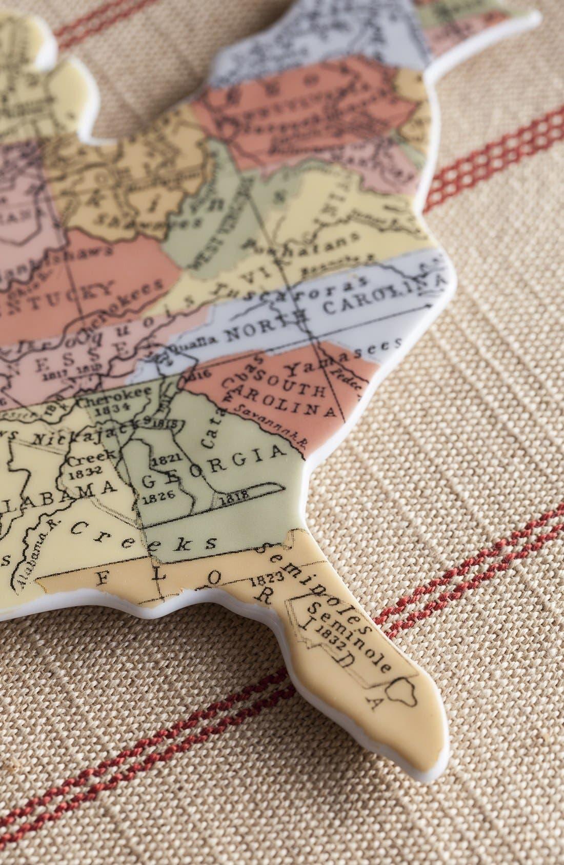 Alternate Image 4  - Rosanna 'Cartography - USA' Porcelain Tray