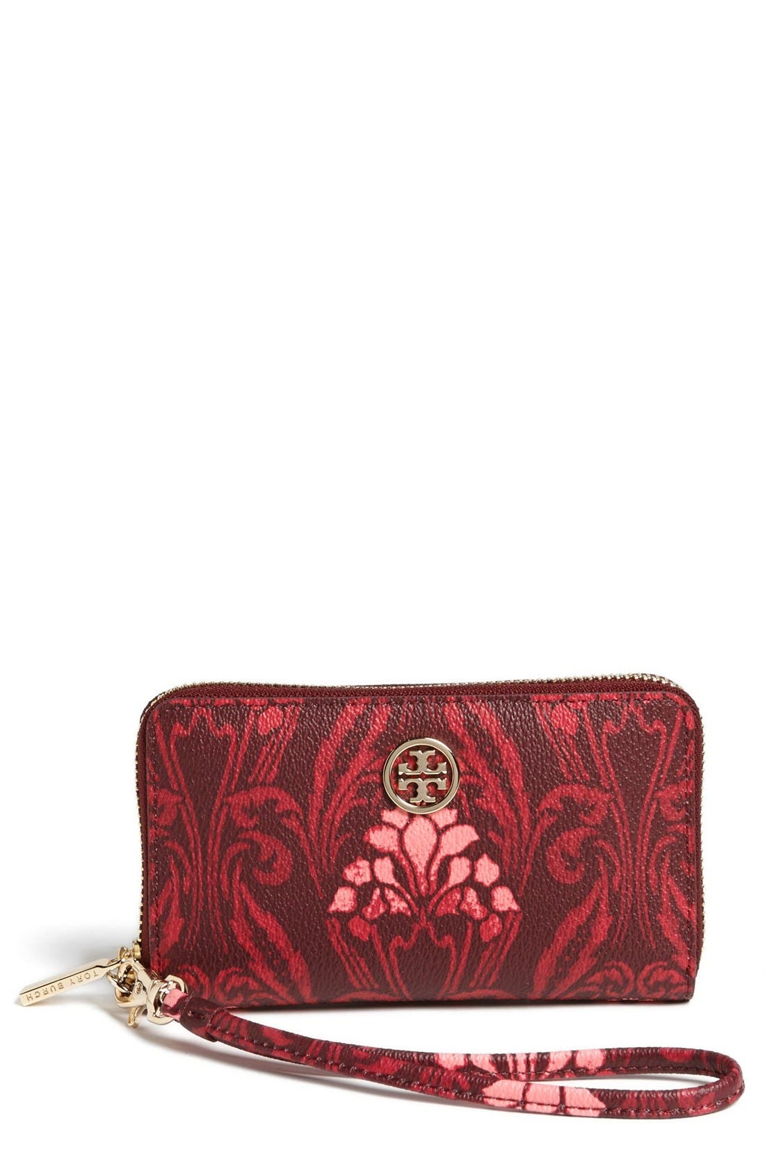 Alternate Image 1 Selected - Tory Burch 'Robinson' Smartphone Wristlet