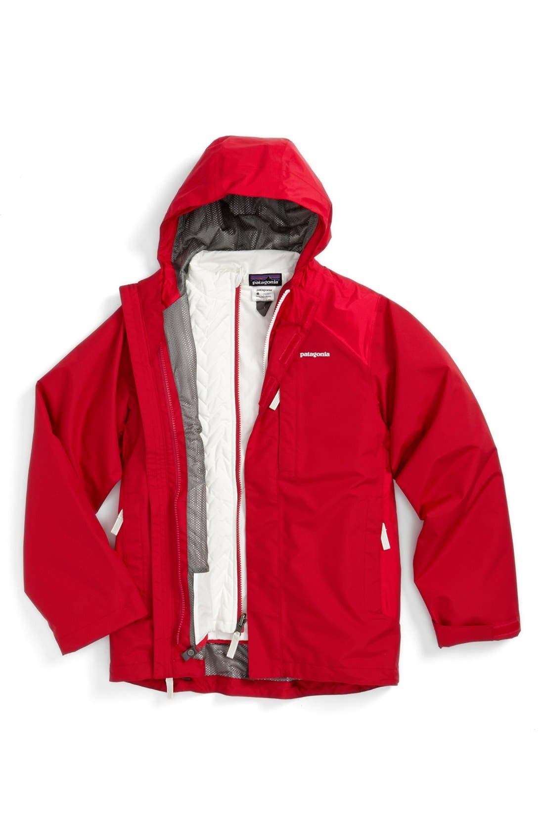 Alternate Image 1 Selected - Patagonia Waterproof 3-in-1 Snowsport Jacket (Little Girls & Big Girls)