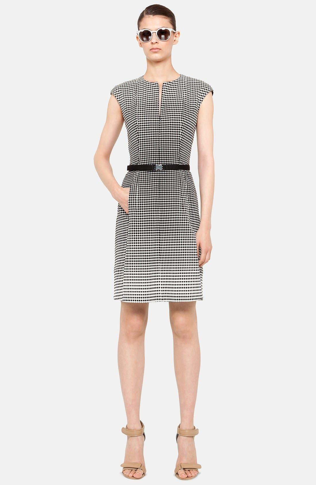 Main Image - Akris punto Print Stretch Cotton Flared Dress