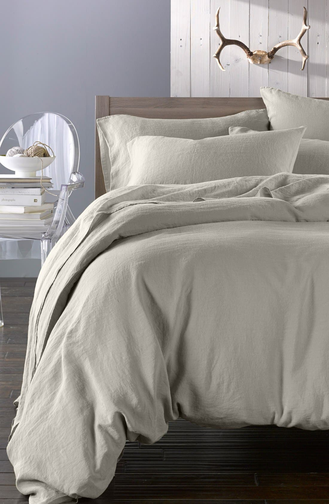 Main Image - Merci Washed Linen Queen Size Duvet Cover