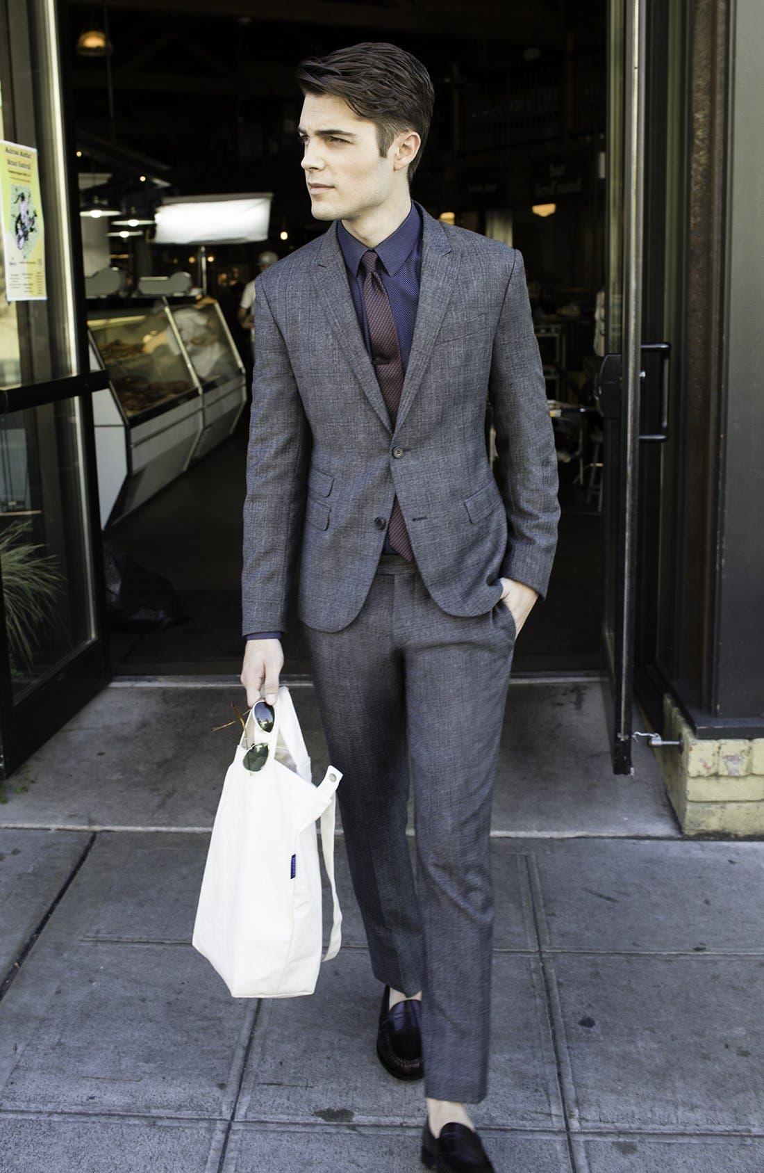 Alternate Image 7  - Neil Barrett Windowpane Plaid Wool Suit
