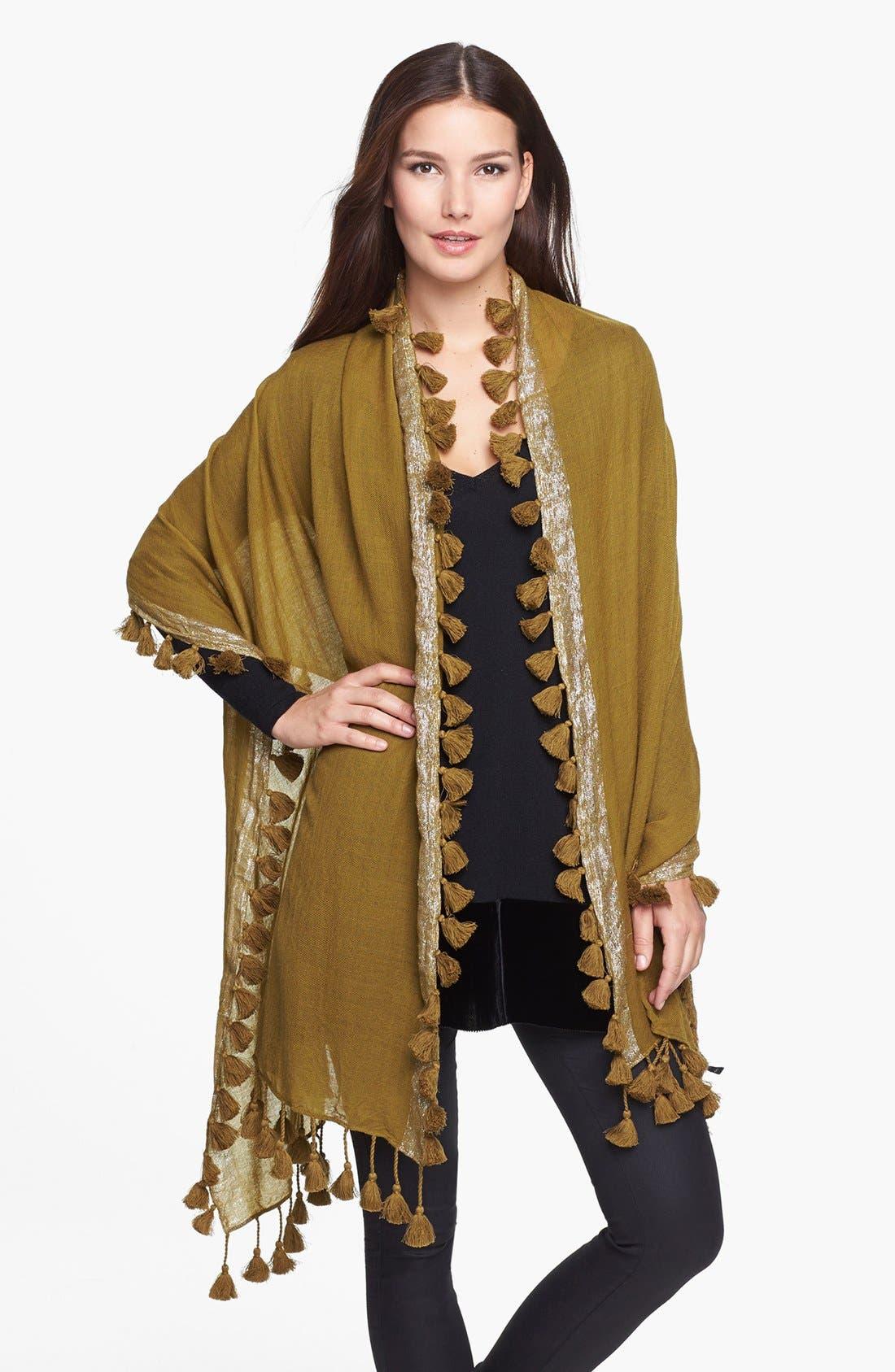 Main Image - Eileen Fisher Metallic Wool Wrap