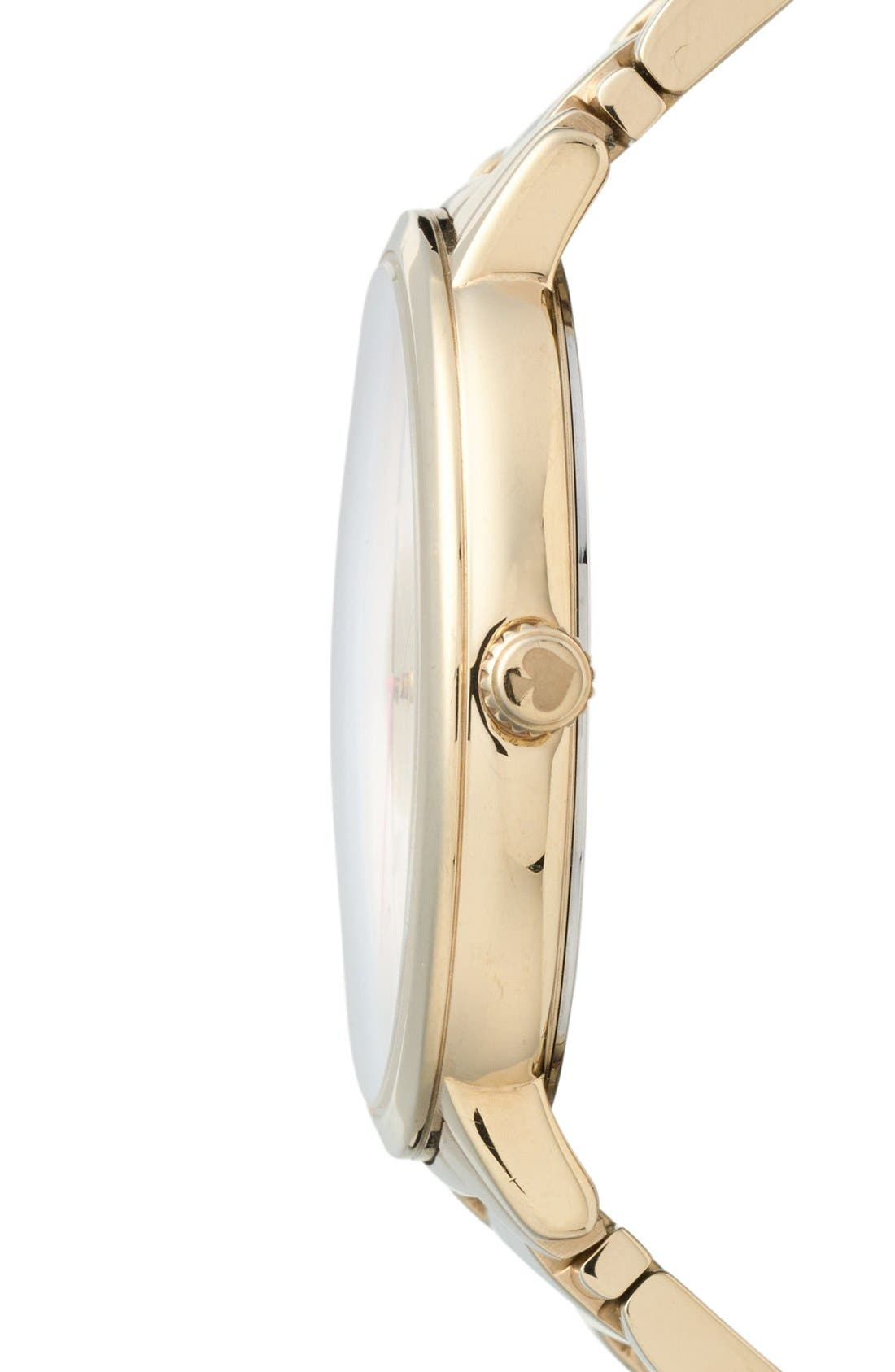 Alternate Image 3  - kate spade new york 'gramercy grand' bracelet watch, 38mm