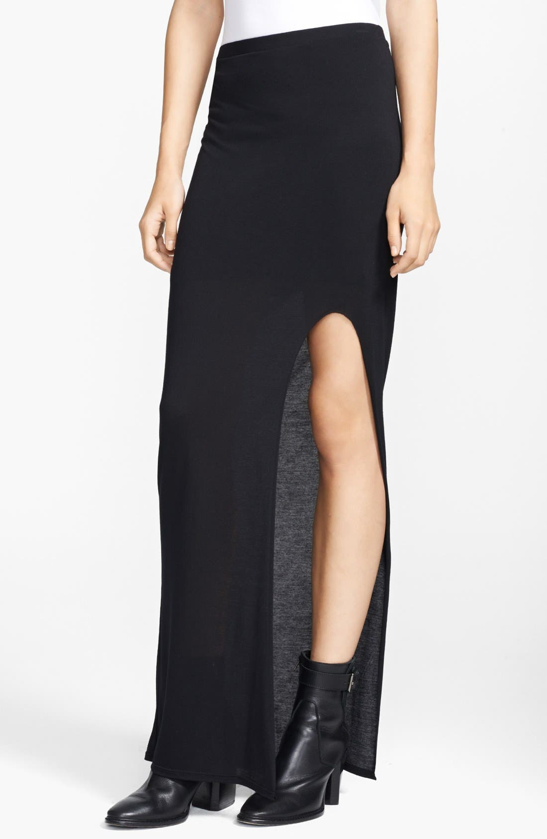 Alternate Image 1 Selected - HELMUT Helmut Lang 'Kinetic' Jersey Maxi Skirt