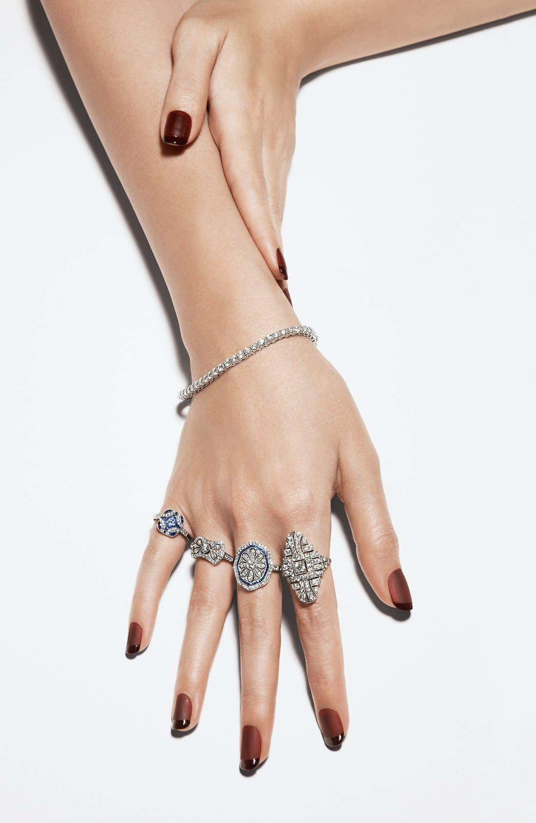 Alternate Image 2  - Kwiat 'Vintage' Diamond & Blue Sapphire Octagon Ring