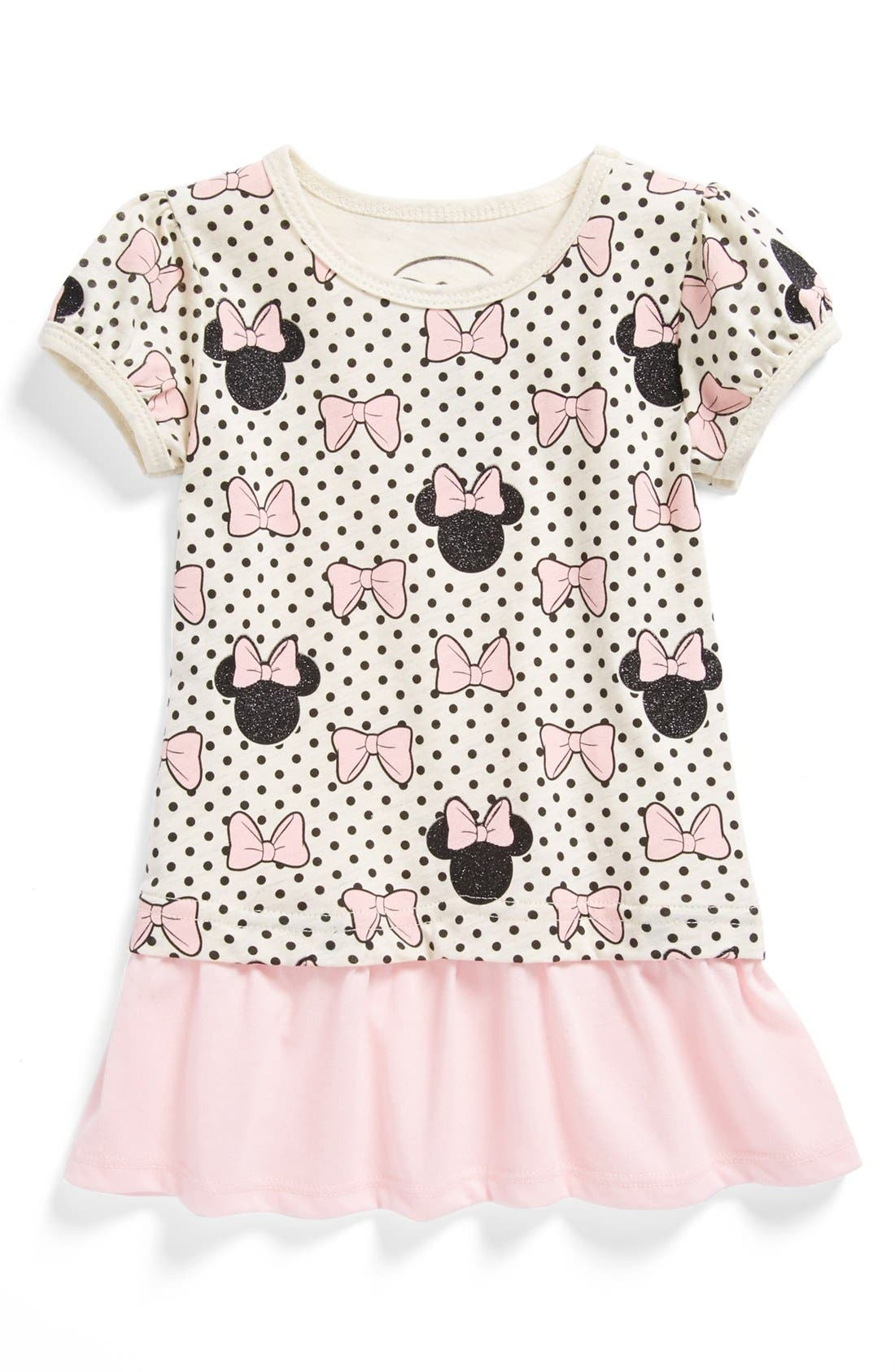 Alternate Image 1 Selected - Mighty Fine 'Minnie' Polka Dot Peplum Tee (Little Girls)