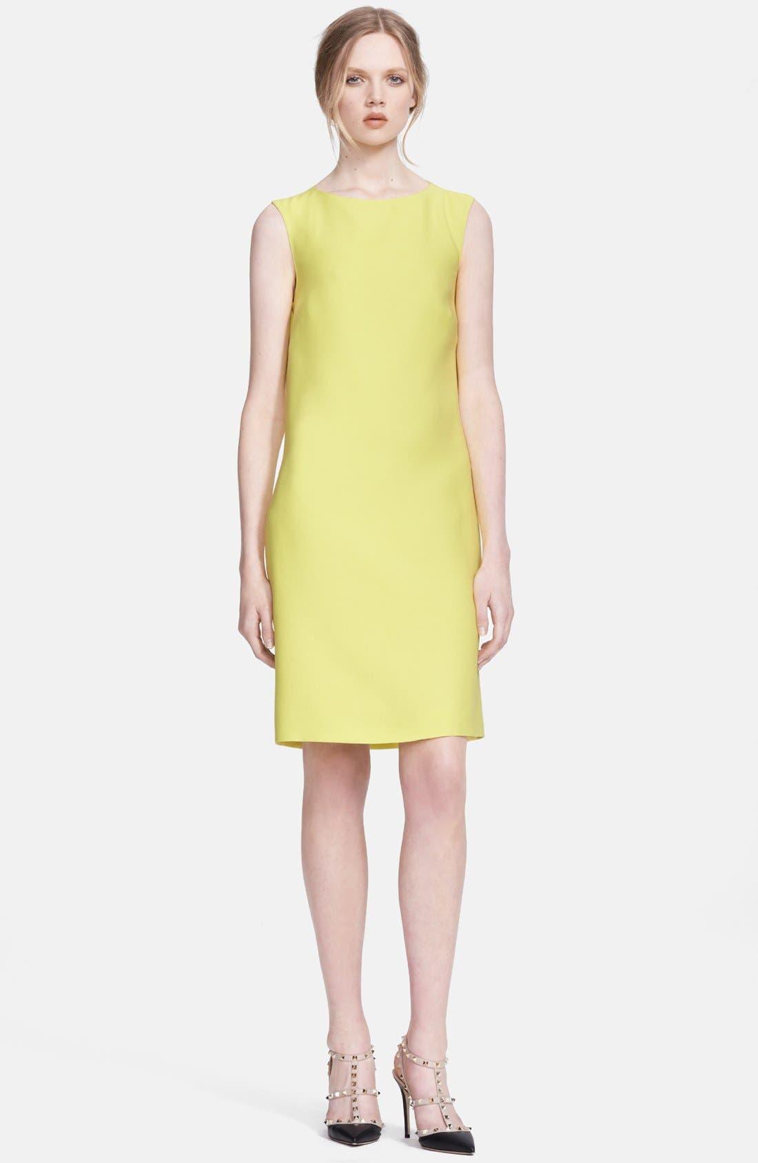 Main Image - Valentino Bow Detail Crepe Dress