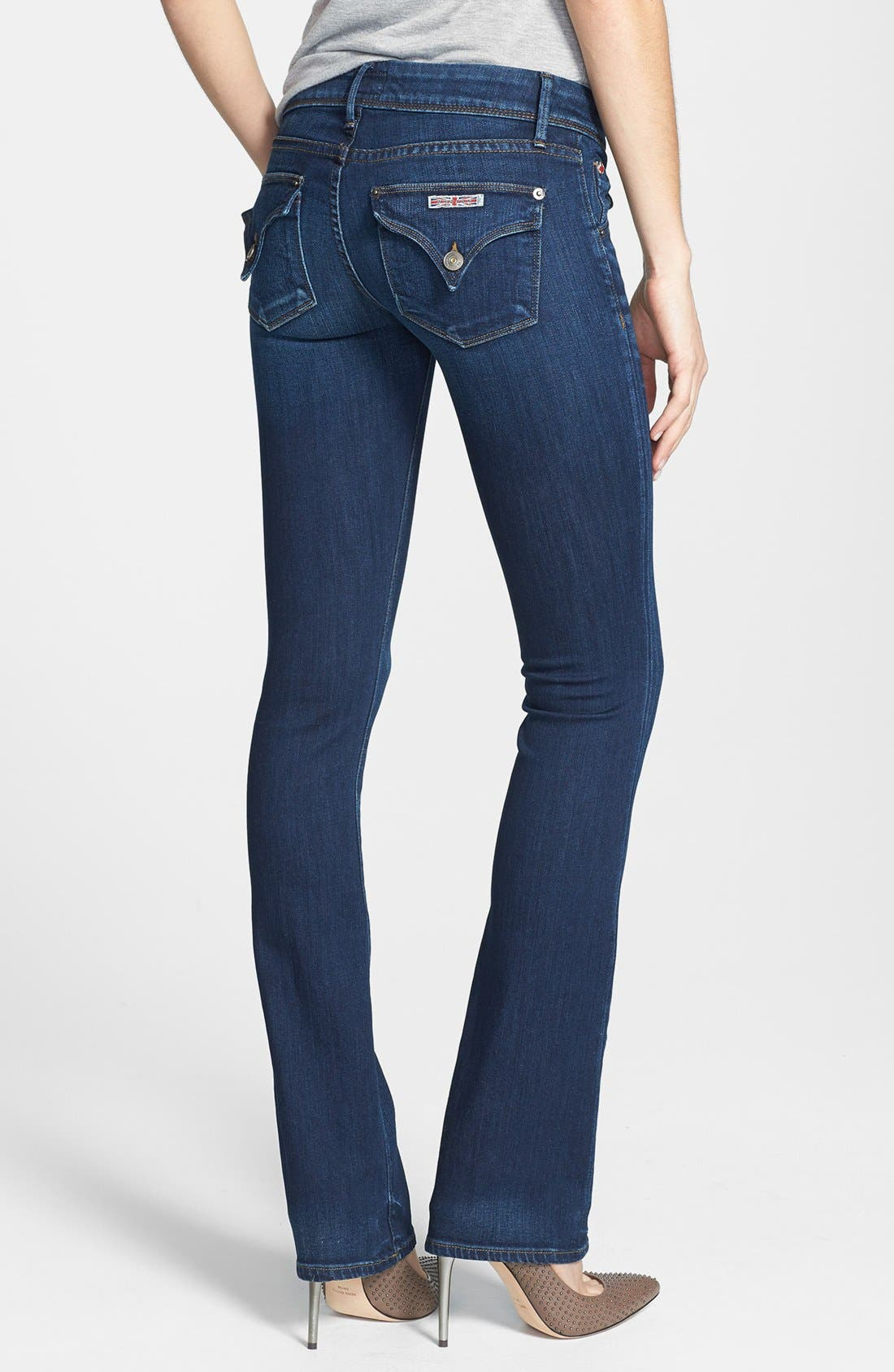 Alternate Image 2  - Hudson Jeans 'Beth' Baby Bootcut Jeans (Unplugged)