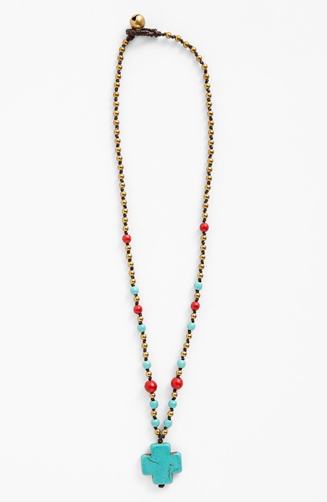 Main Image - Panacea Cross Pendant Necklace