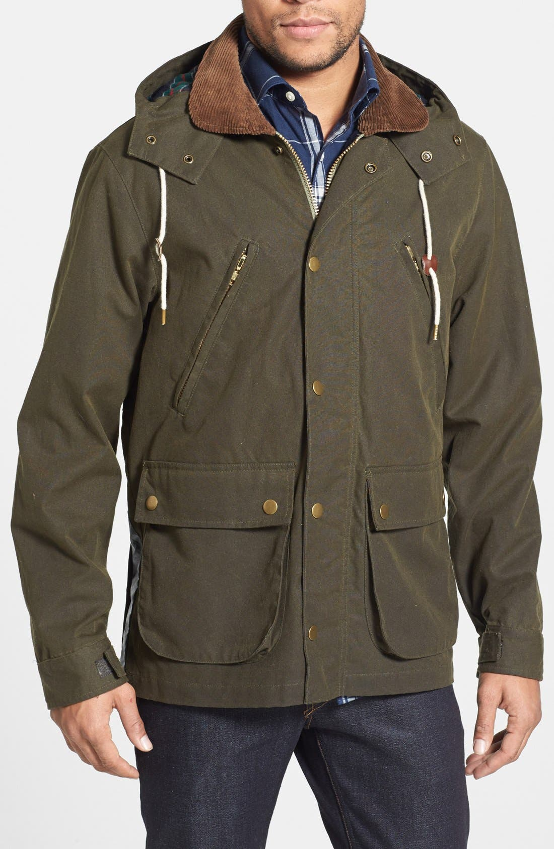 Main Image - Gant Rugger 'Wax Your Back' Waxed Cotton Field Jacket