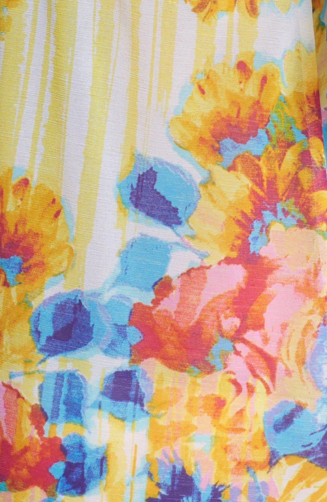 Alternate Image 3  - Betsey Johnson Embroidered Chiffon Slip