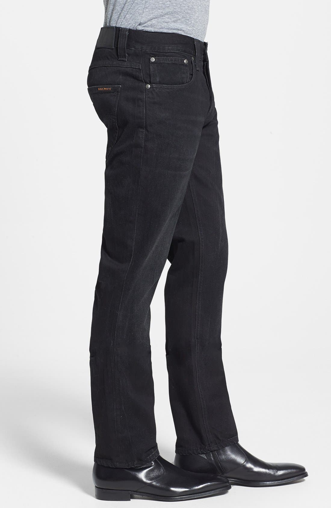 Alternate Image 3  - Nudie Jeans 'Grim Tim' Skinny Fit Jeans (Organic Black Grease)